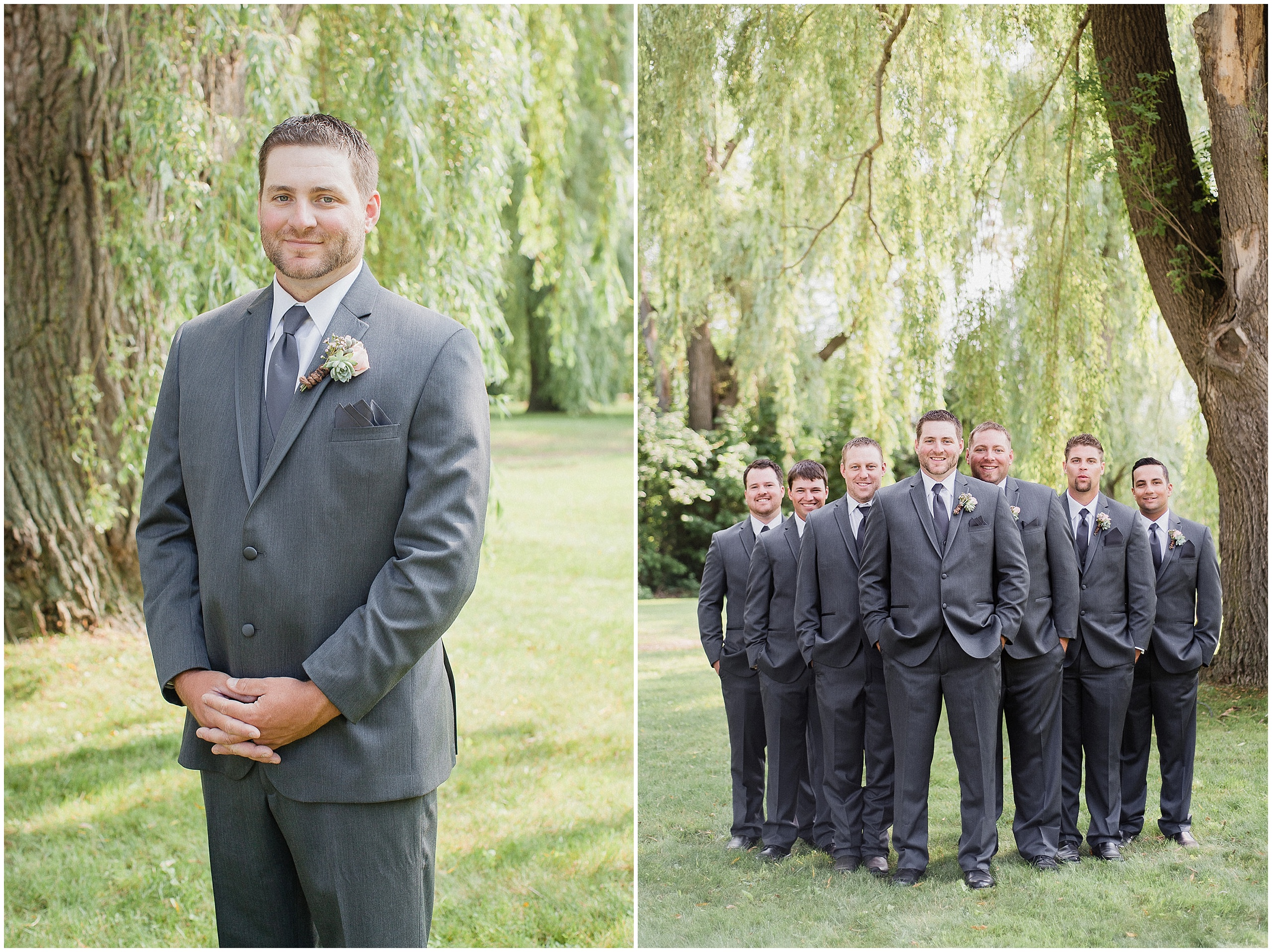 Groomsmen at a Bear Estate wedding, photographed by Jenn Kavanagh Photography