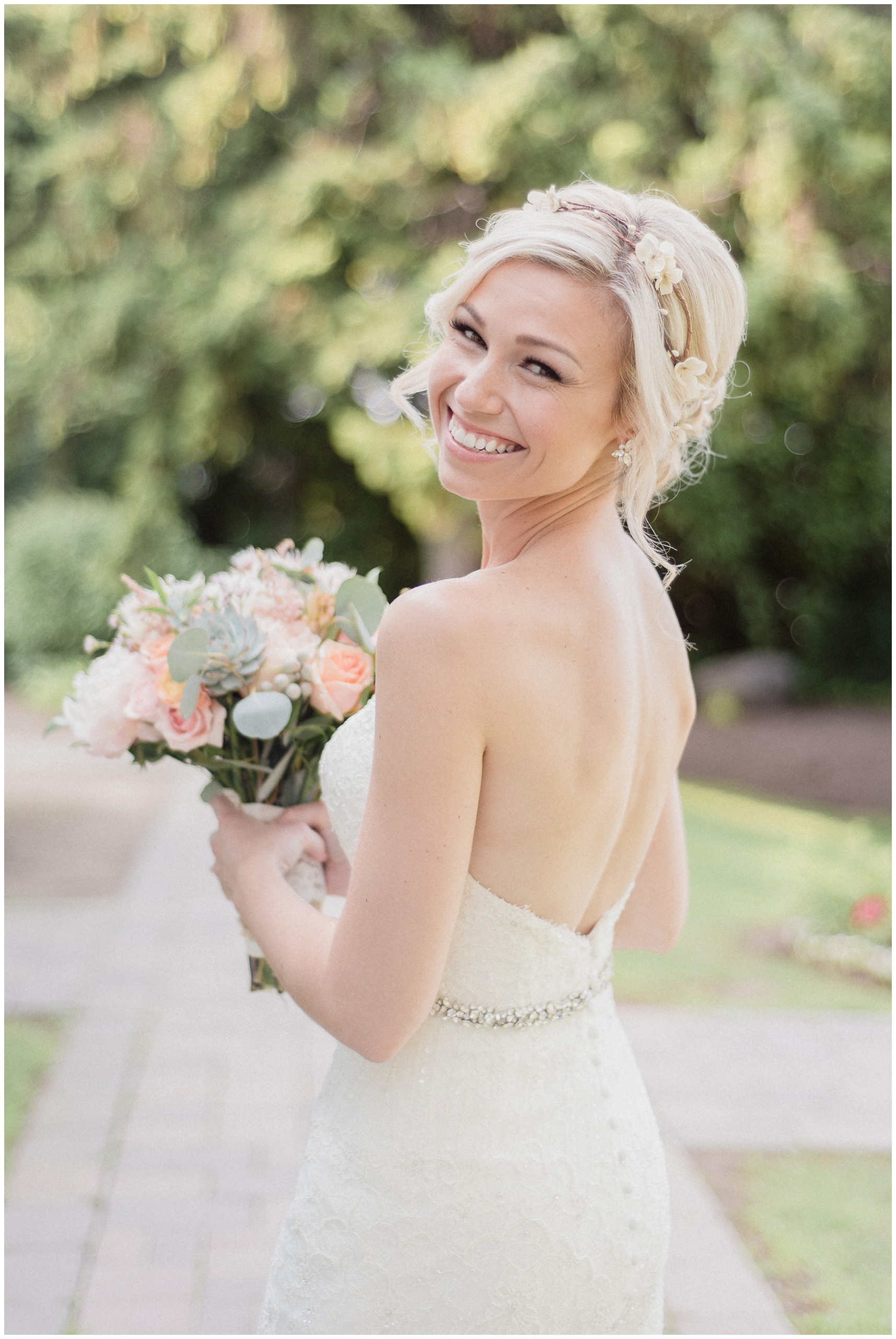 Stunning bride at her Bear Estate Wedding, photographed by Jenn Kavanagh Photography