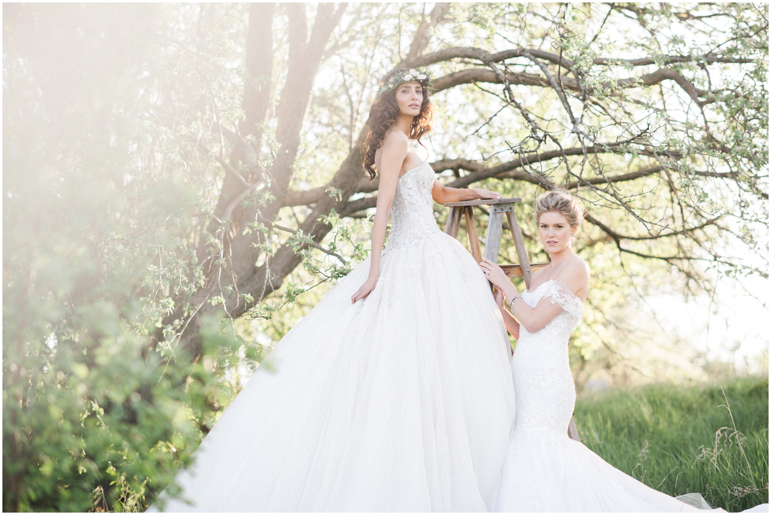 Spring Wedding Inspiration- Brides in Ines Di Santo gowns.