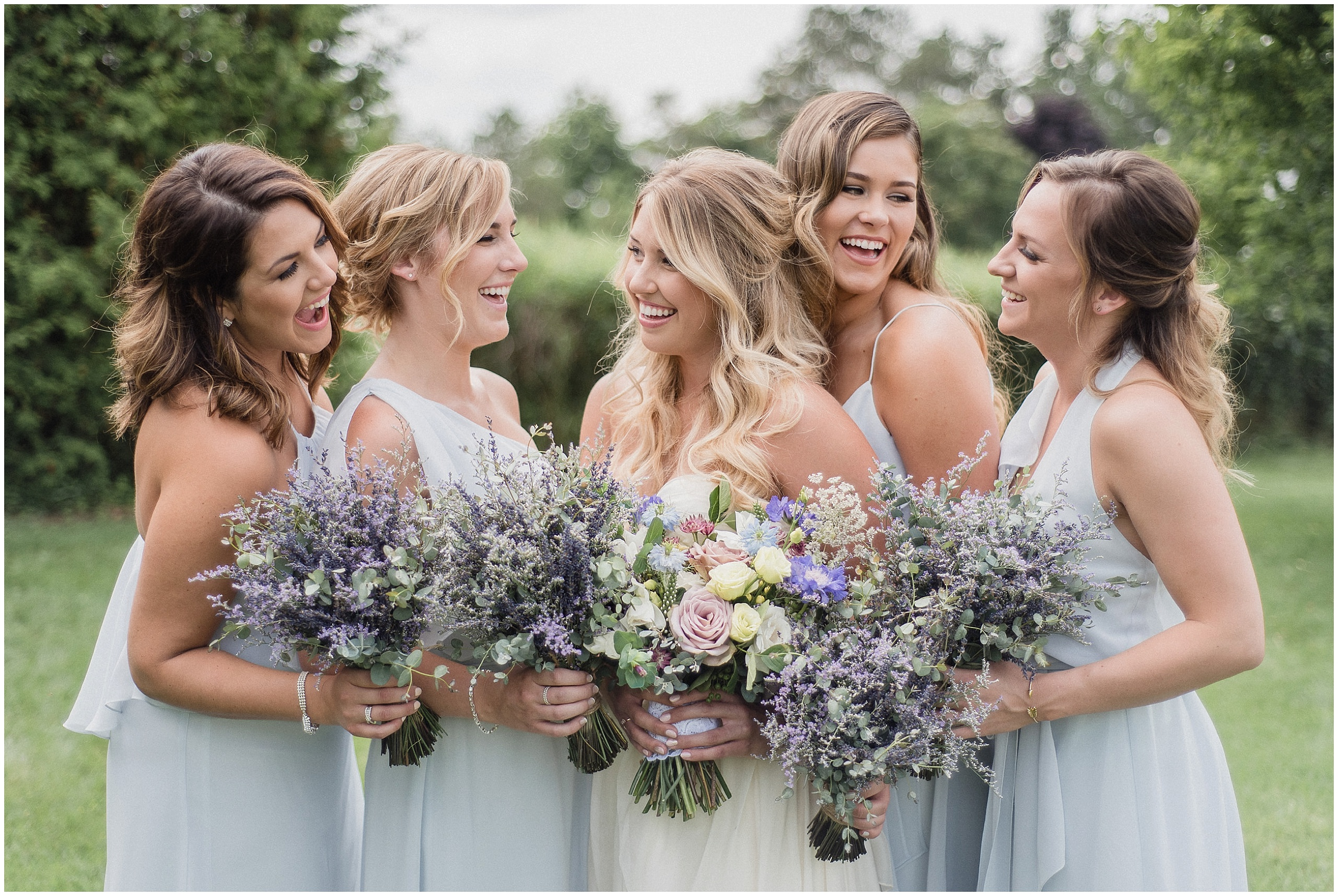 Nouvelle Amsale bridesmaids dresses photographed by Jenn Kavanagh Photography