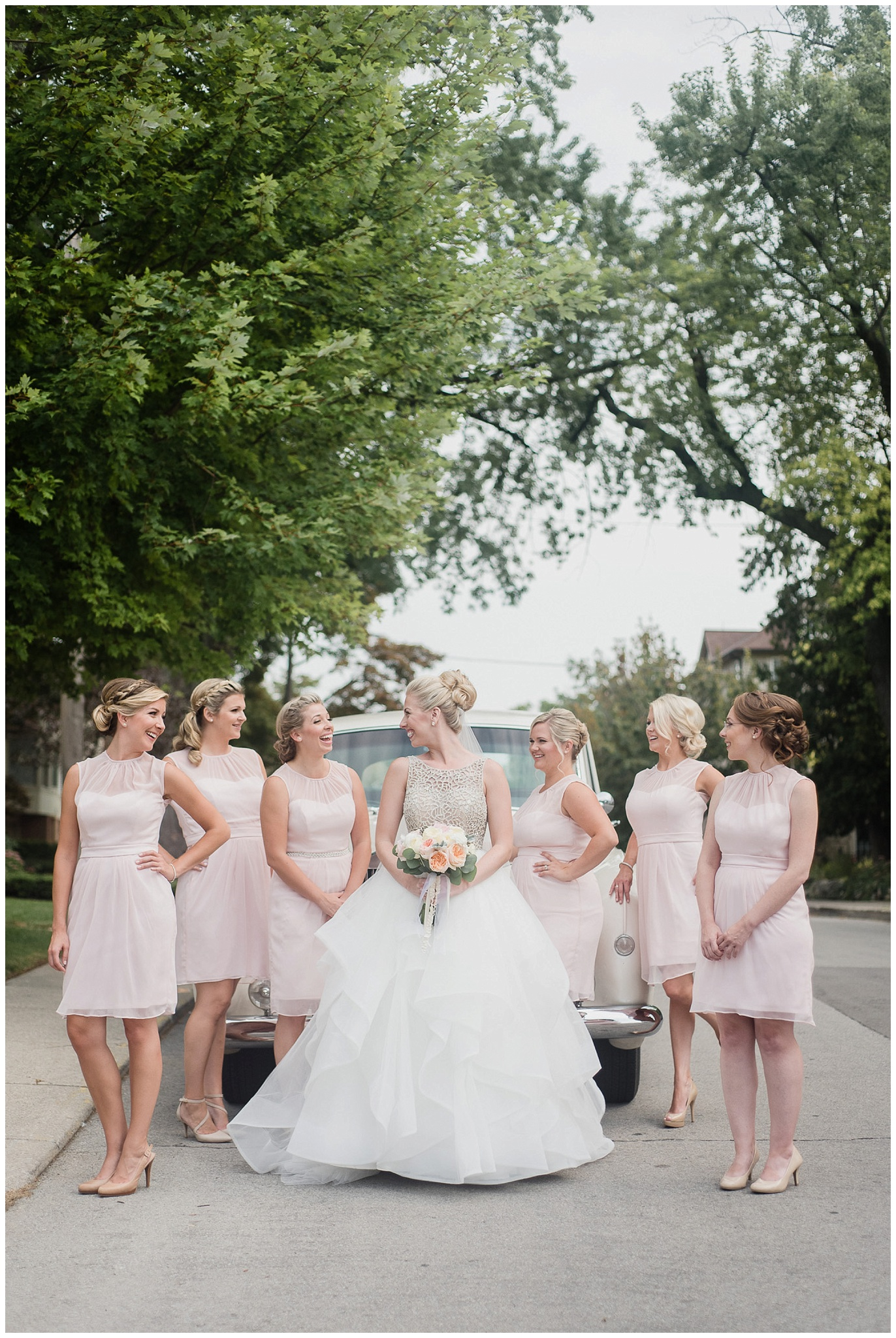 Blush pink bridemaid dresses photographed by Jenn Kavanagh Photography