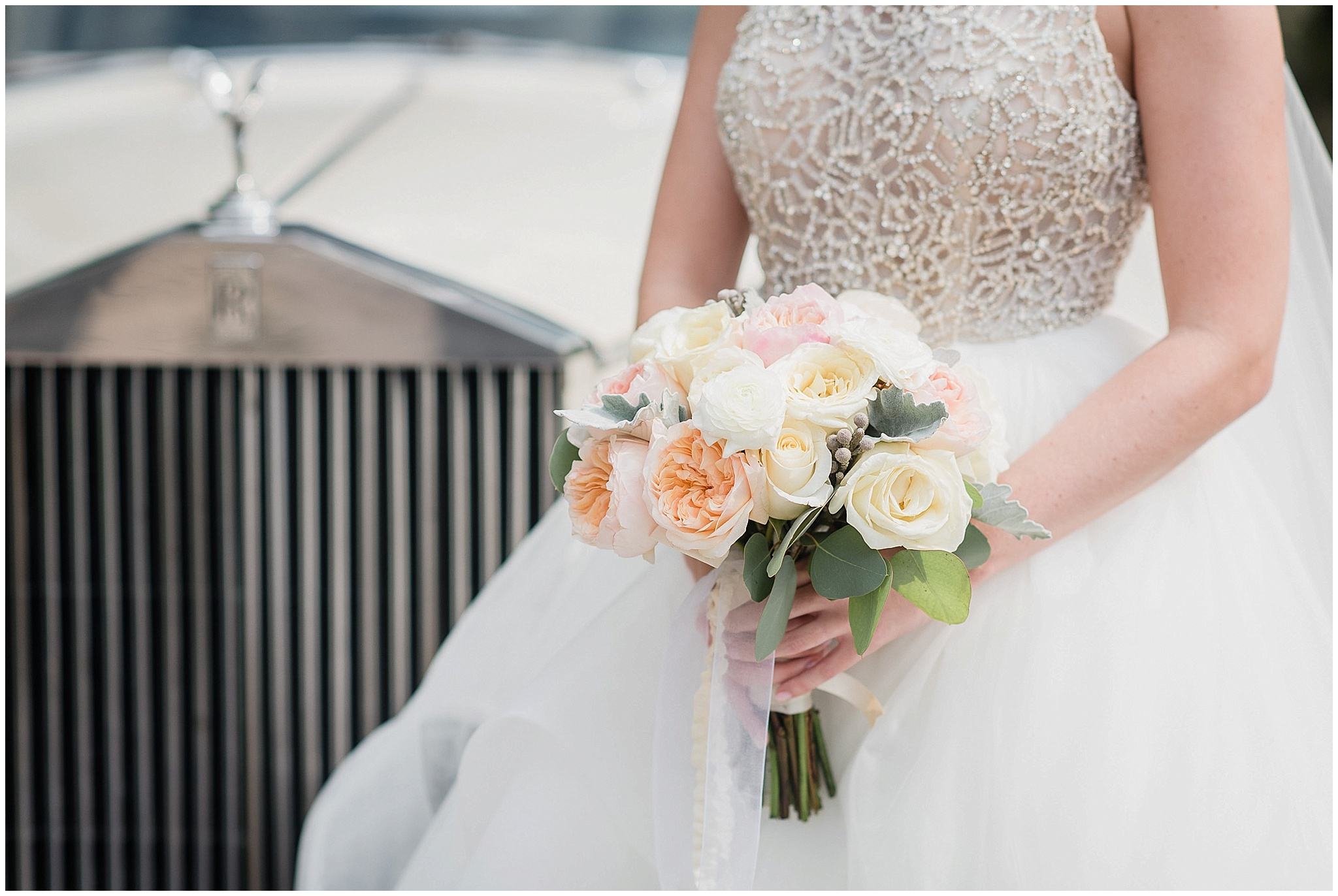 Bride's bouqet of peonies by Pocket of Posies, photographed by Jenn Kavanagh Photography