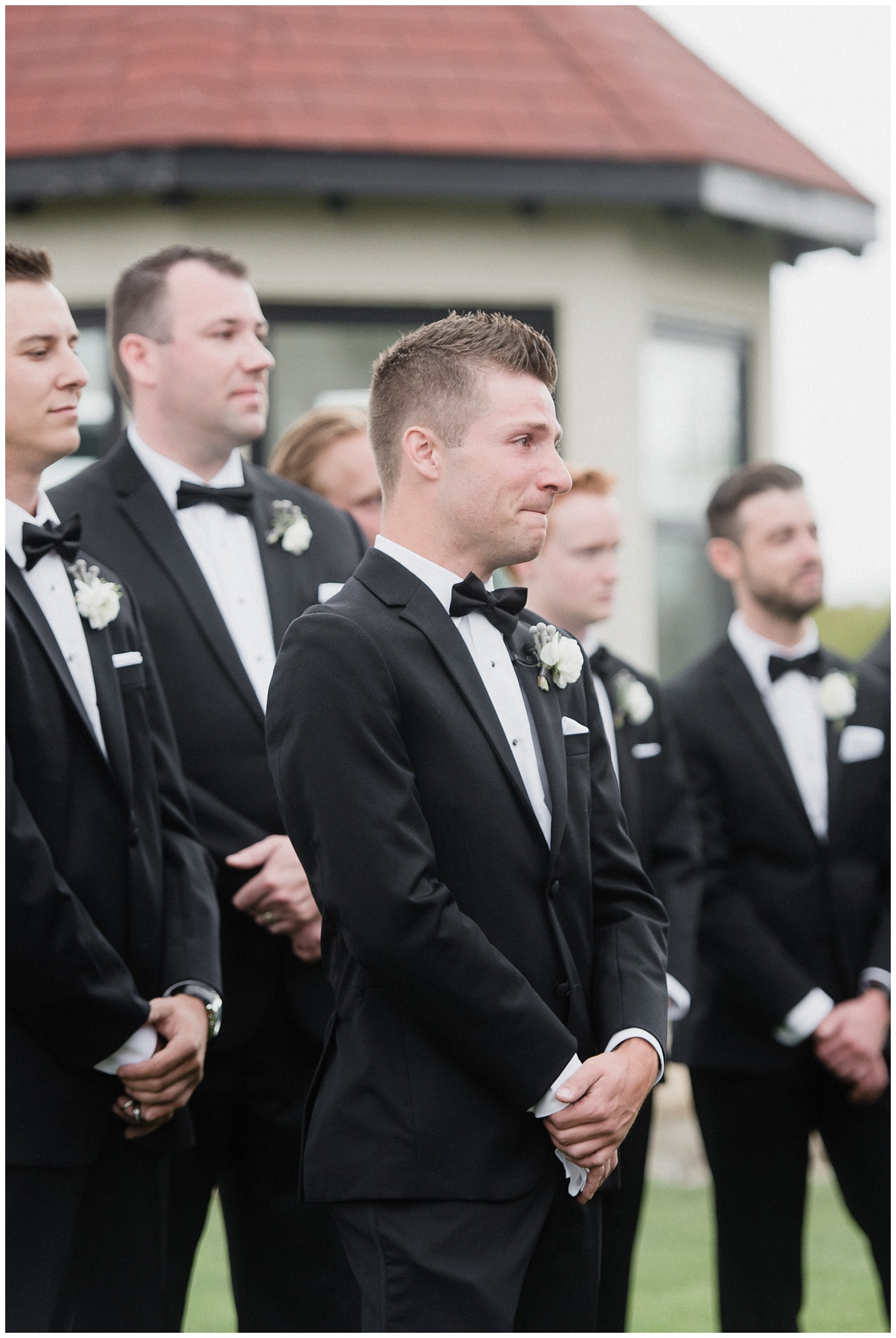 Best groom reaction ever! So sweet. Photo by Jenn Kavanagh Photography