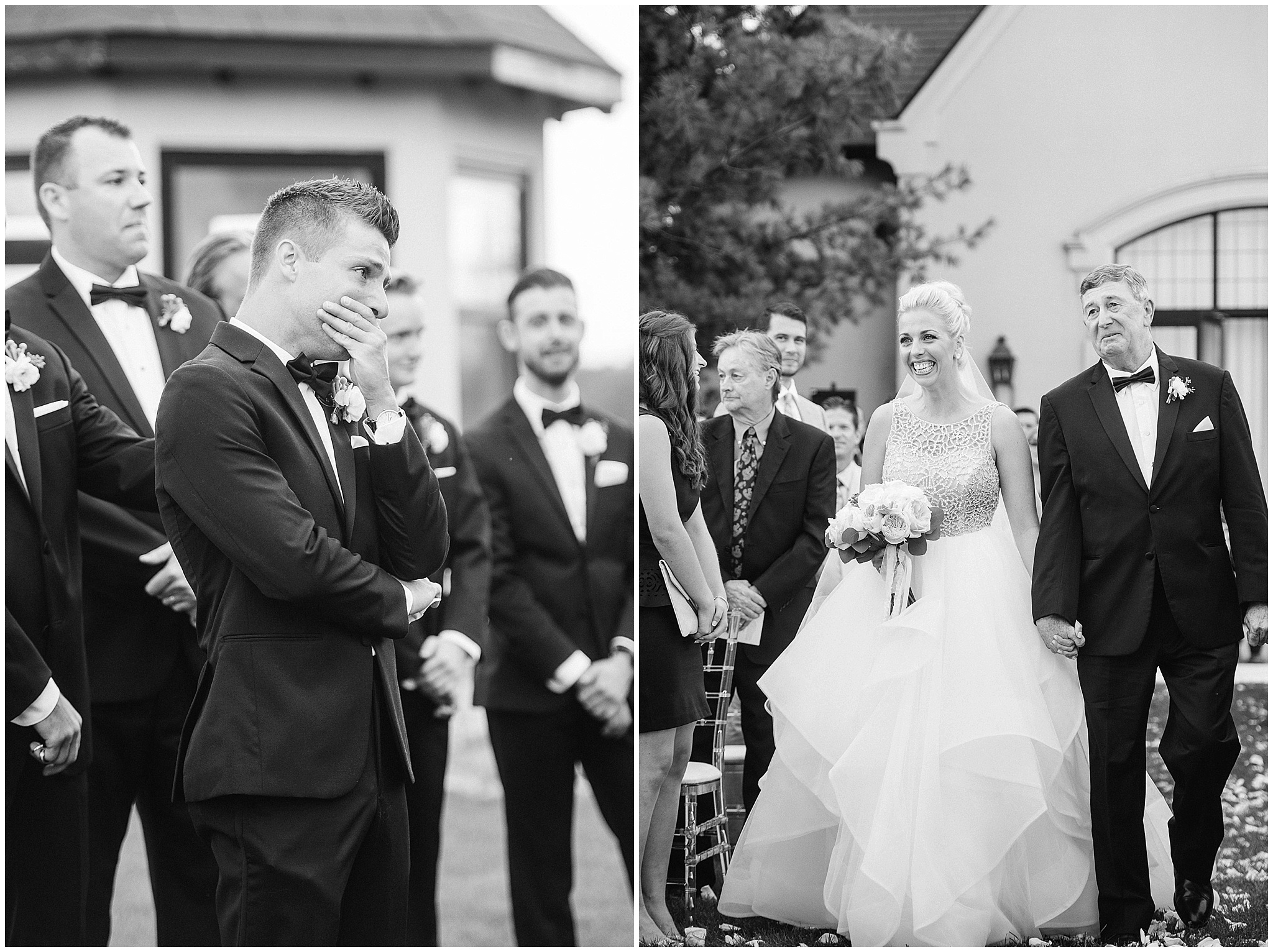 Tearful wedding ceremony photographed by Jenn Kavanagh Photography