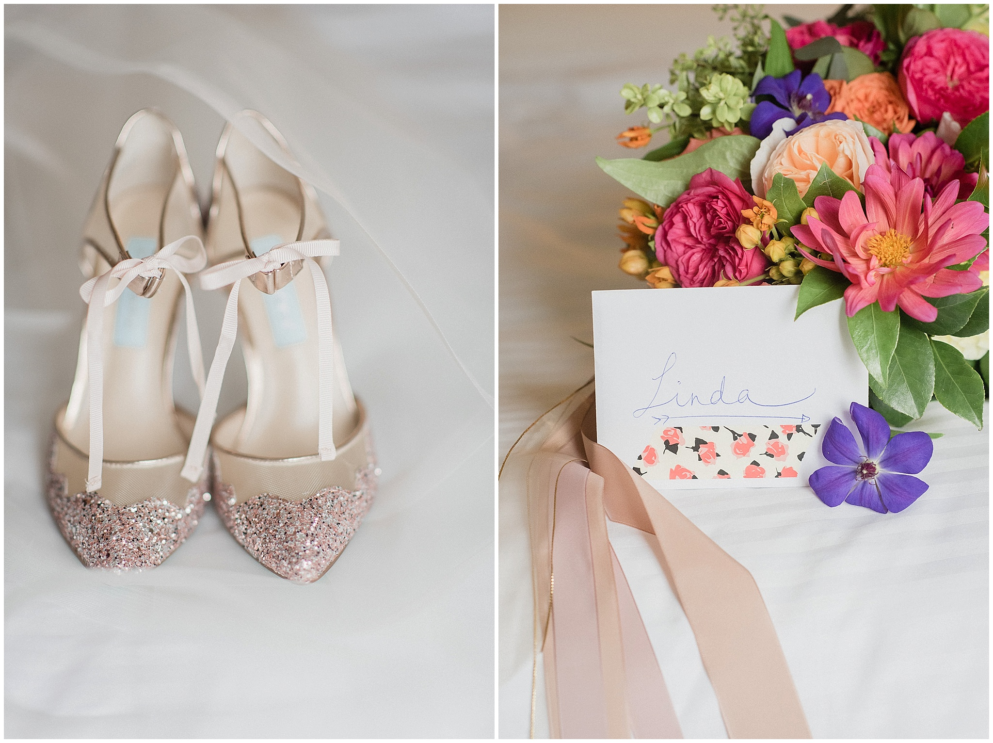 Bridal Details: Betsey Johnson heels photographed by Jenn Kavanagh Photography