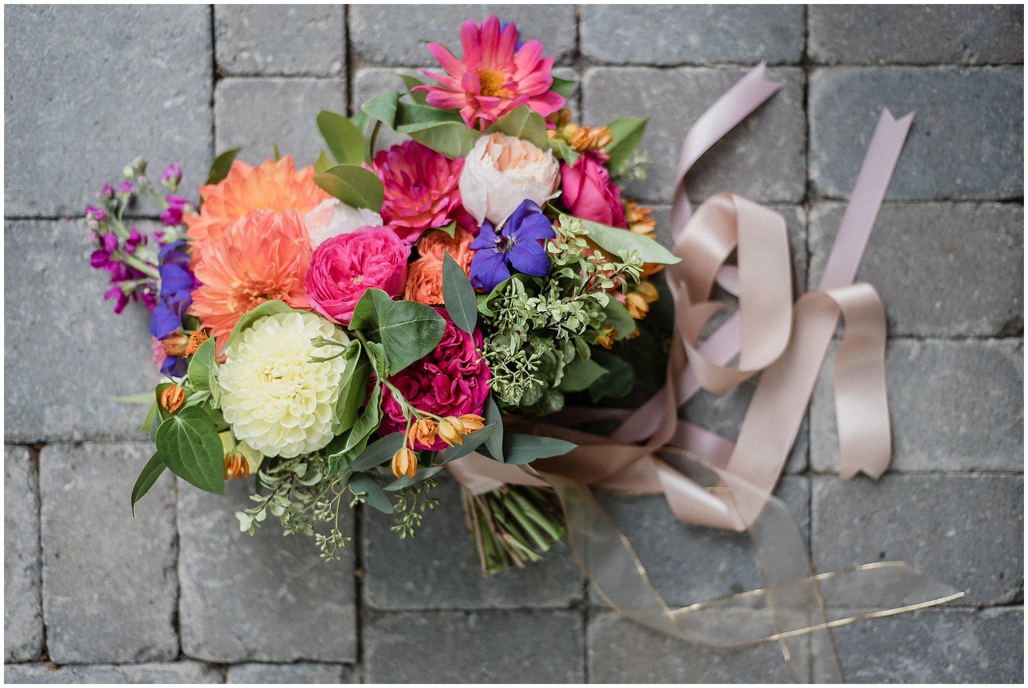Blush and Bloom bridal bouquet at a Markland Wood Golf Course wedding photographed by Jenn Kavanagh Photography