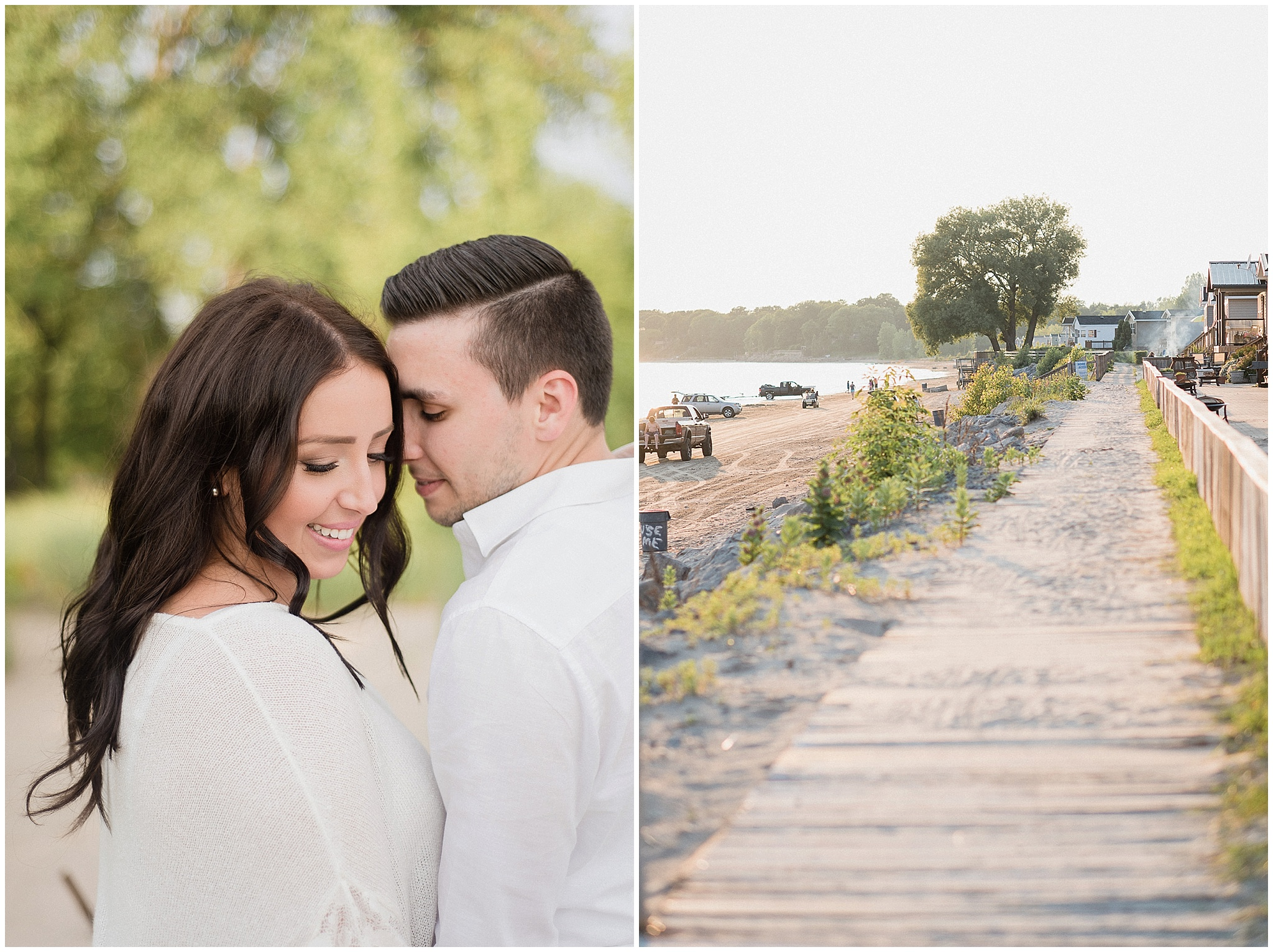Sherkston Shores summertime beach engagement session photographed by Jenn Kavanagh Photography