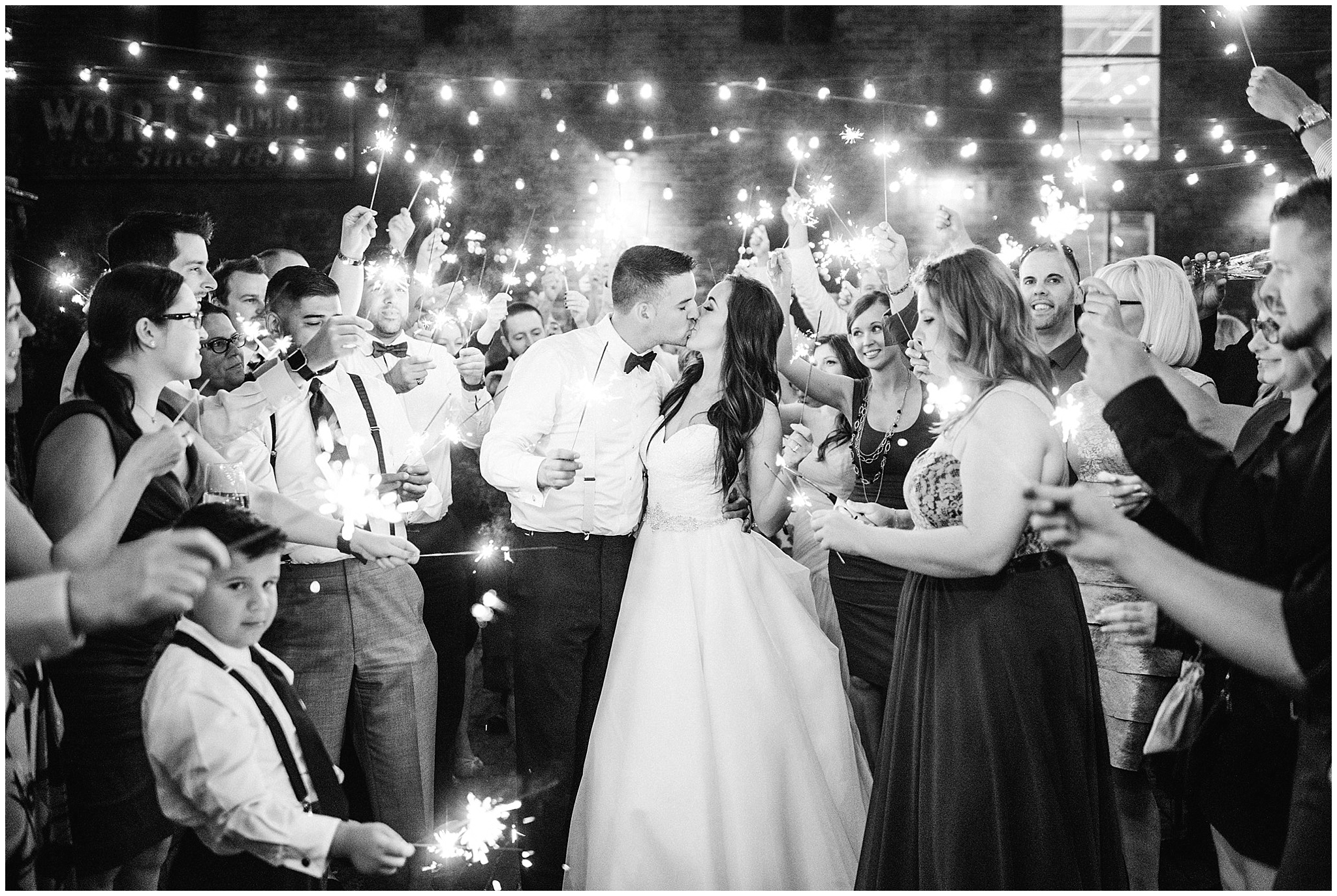 Sparkler Wedding Photo | Distillery District wedding by Jenn Kavanagh Photography