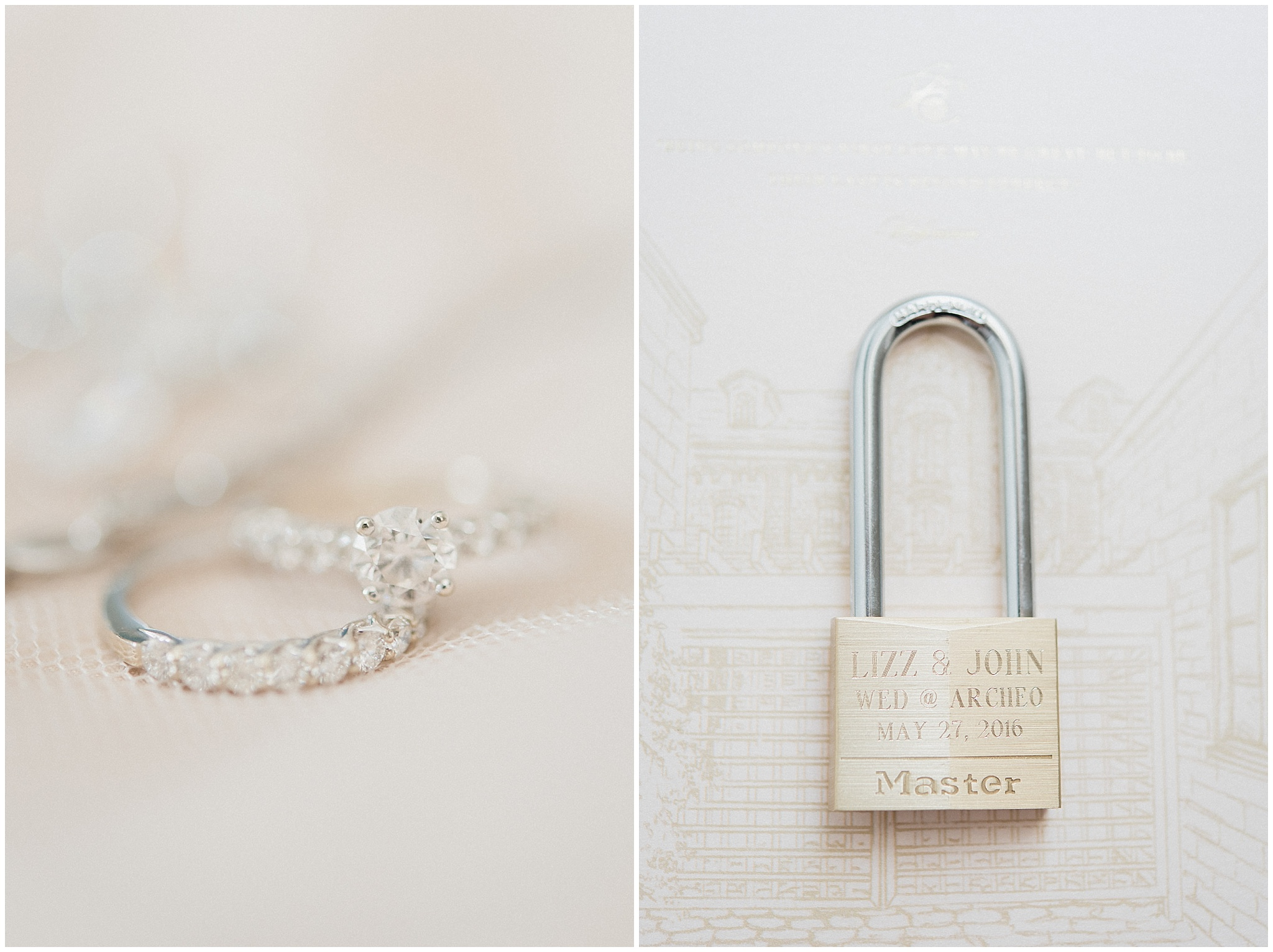 Engraved Lock with Wedding Date | Distillery District wedding by Jenn Kavanagh Photography