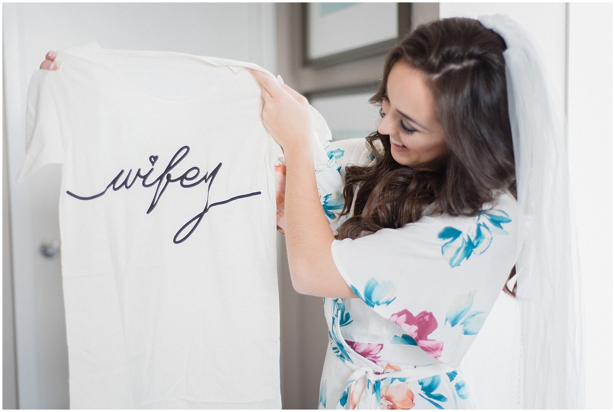 Wifey t-shirt | Distillery District wedding by Jenn Kavanagh Photography