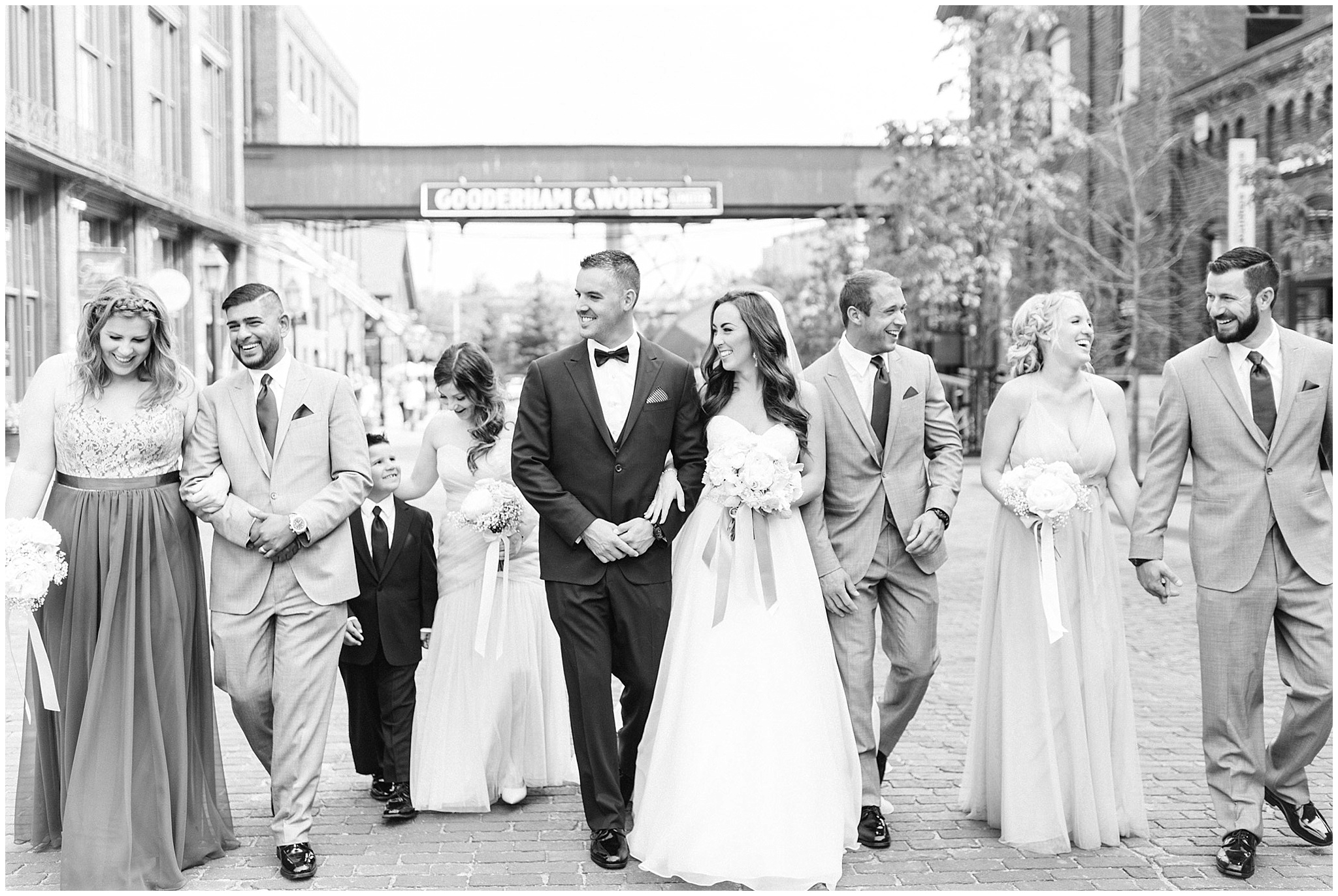 Bridal Party Photos, Distillery District wedding by Jenn Kavanagh Photography