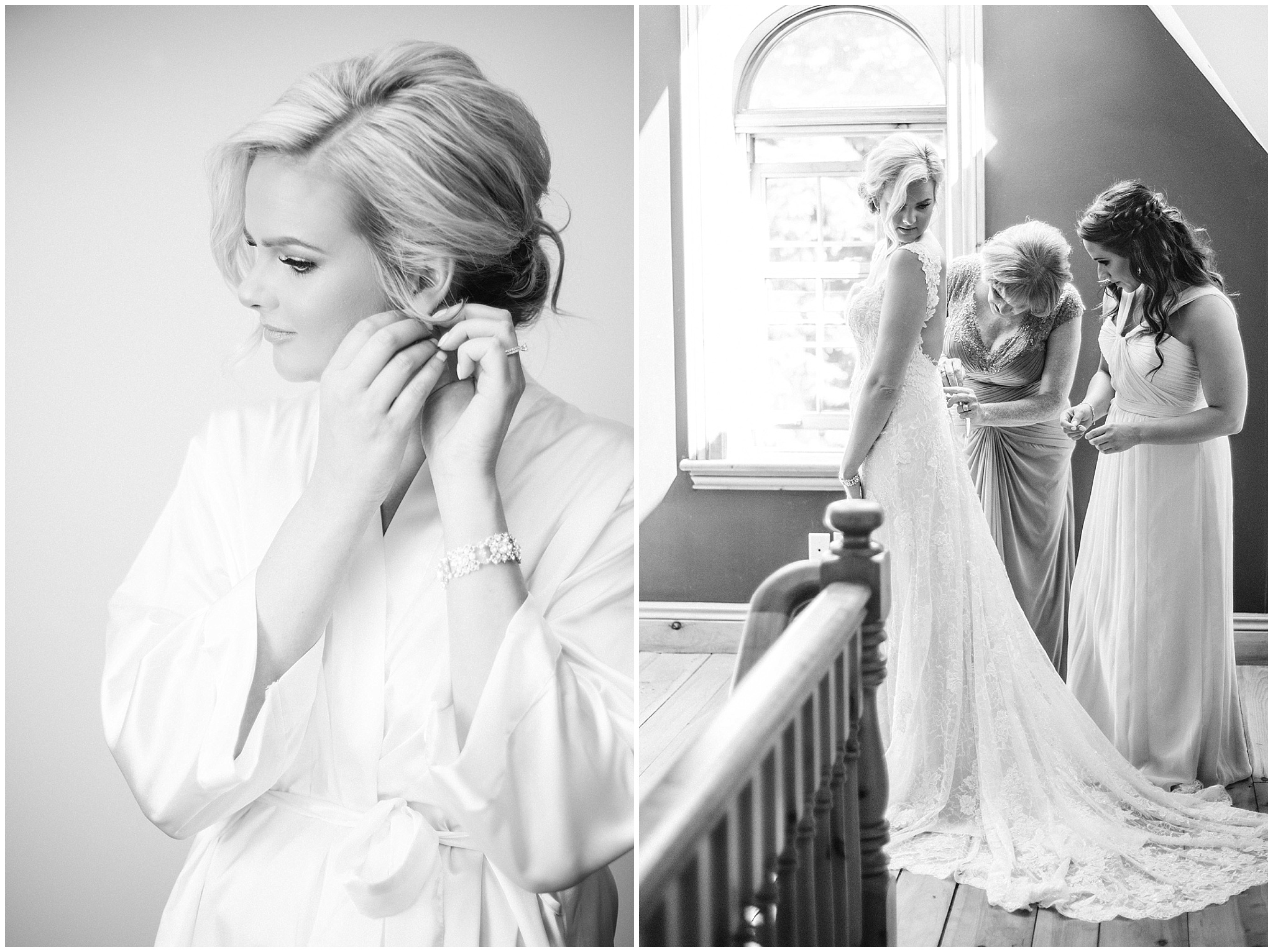 Bride getting ready | Tent wedding on family farm in Guelph, Ontario by Jenn Kavanagh Photography