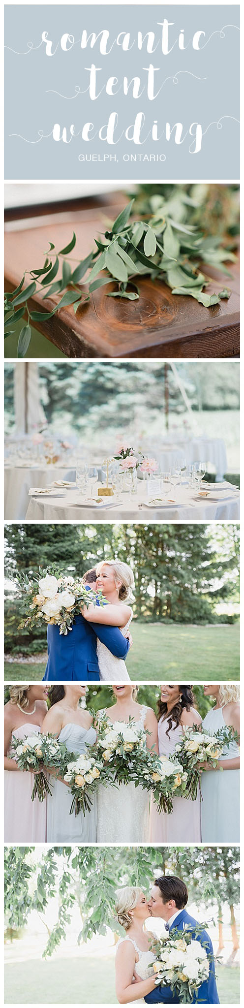 Romantic Tent Wedding on Family Farm in Guelph Ontario by Jenn Kavanagh Photography
