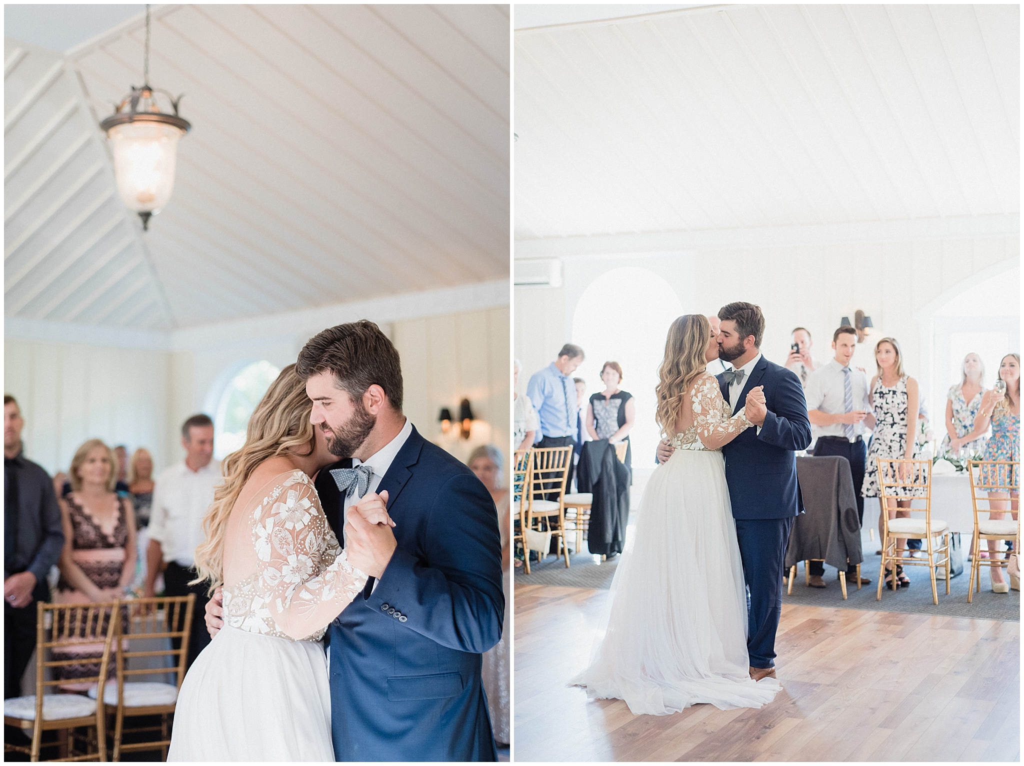 Bride and groom's first dance at Tralee Wedding Facility, photographed by Jenn Kavanagh Photography