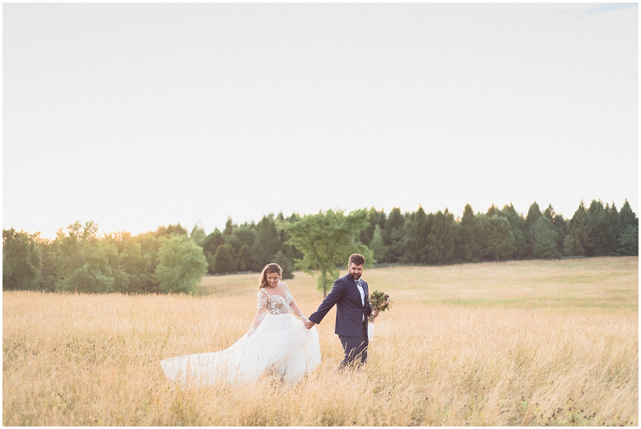 Sunset bride and groom portraits at Tralee Wedding Facility, photographed by Jenn Kavanagh Photography