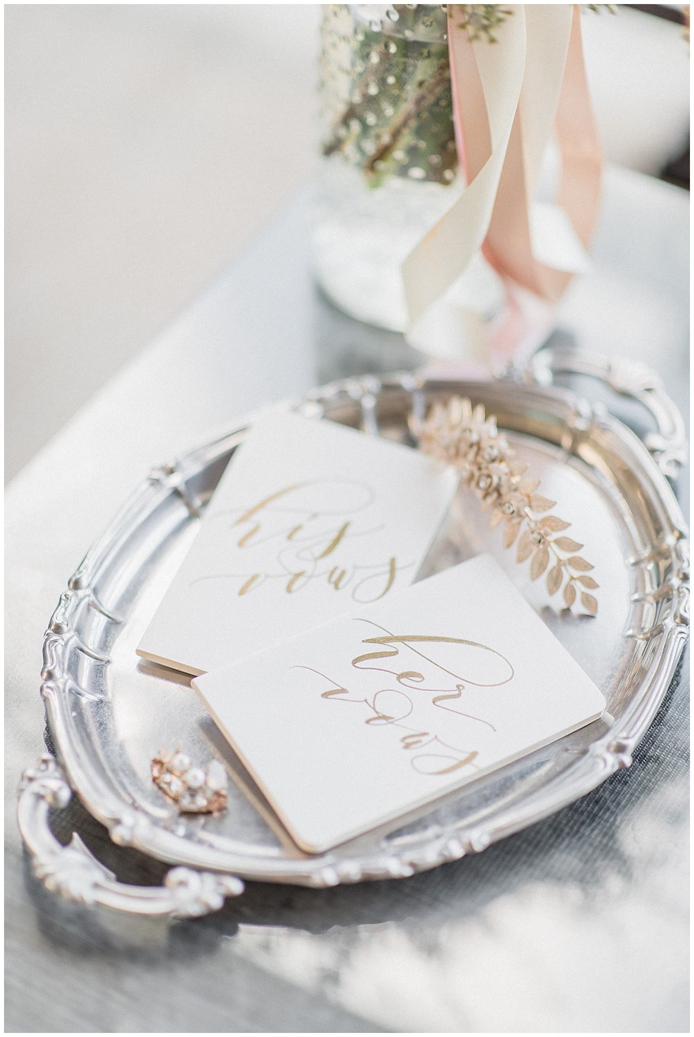 Vow books by Seniman Calligraphy, photographed by Jenn Kavanagh Photography