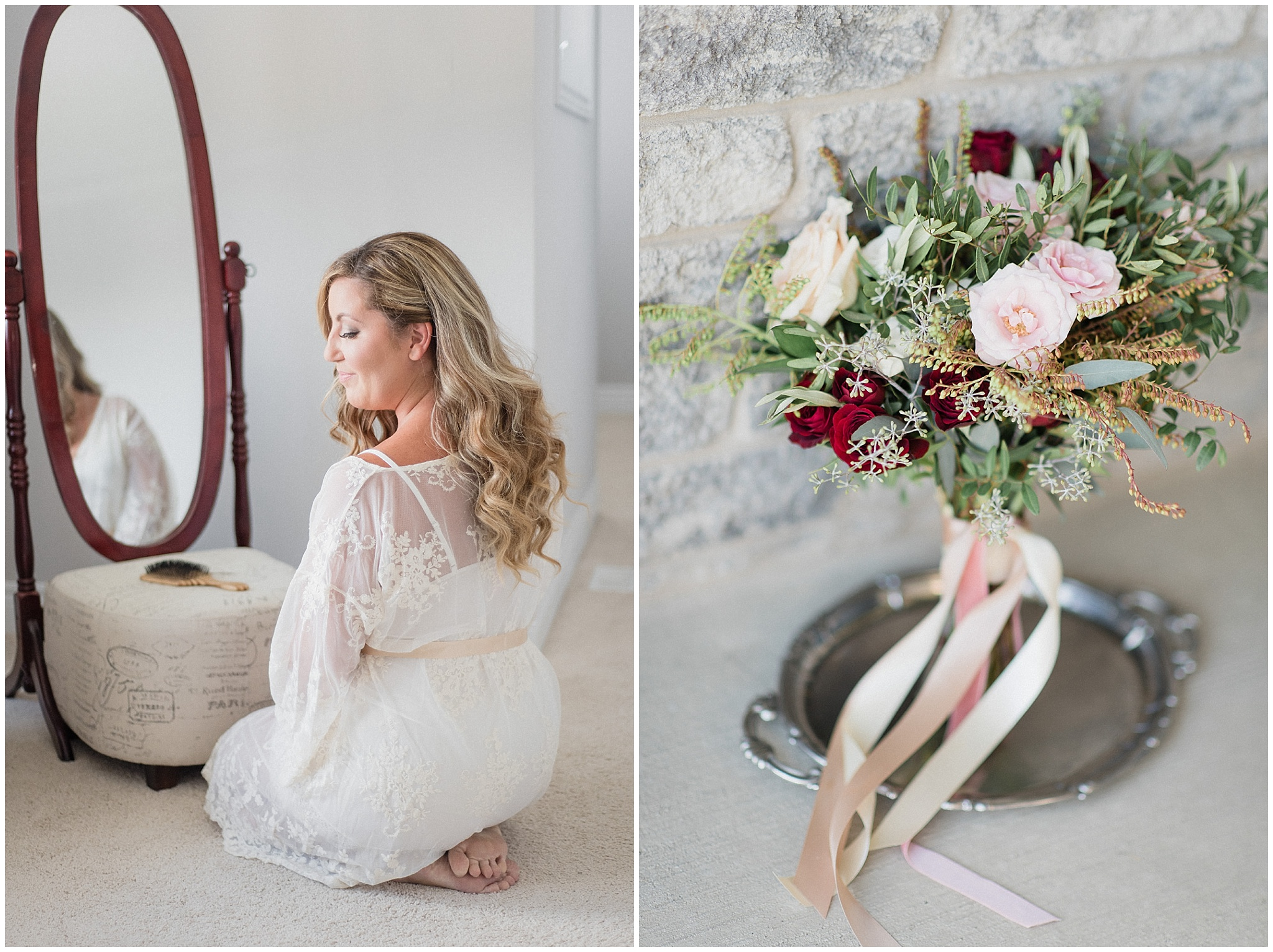 Hand tied florals by Cedar & Stone, photographed by Jenn Kavanagh Photography
