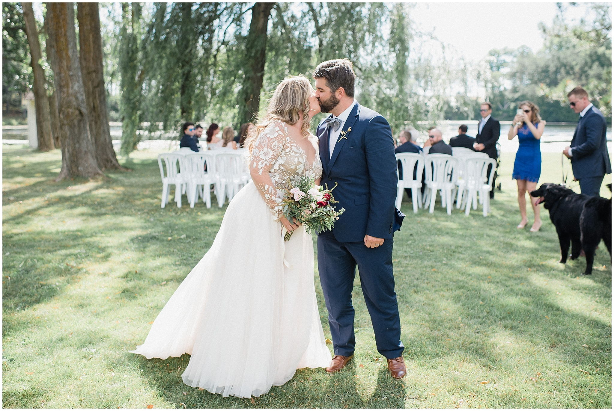 Outdoor ceremony at Tralee Wedding Facility, photographed by Jenn Kavanagh Photography