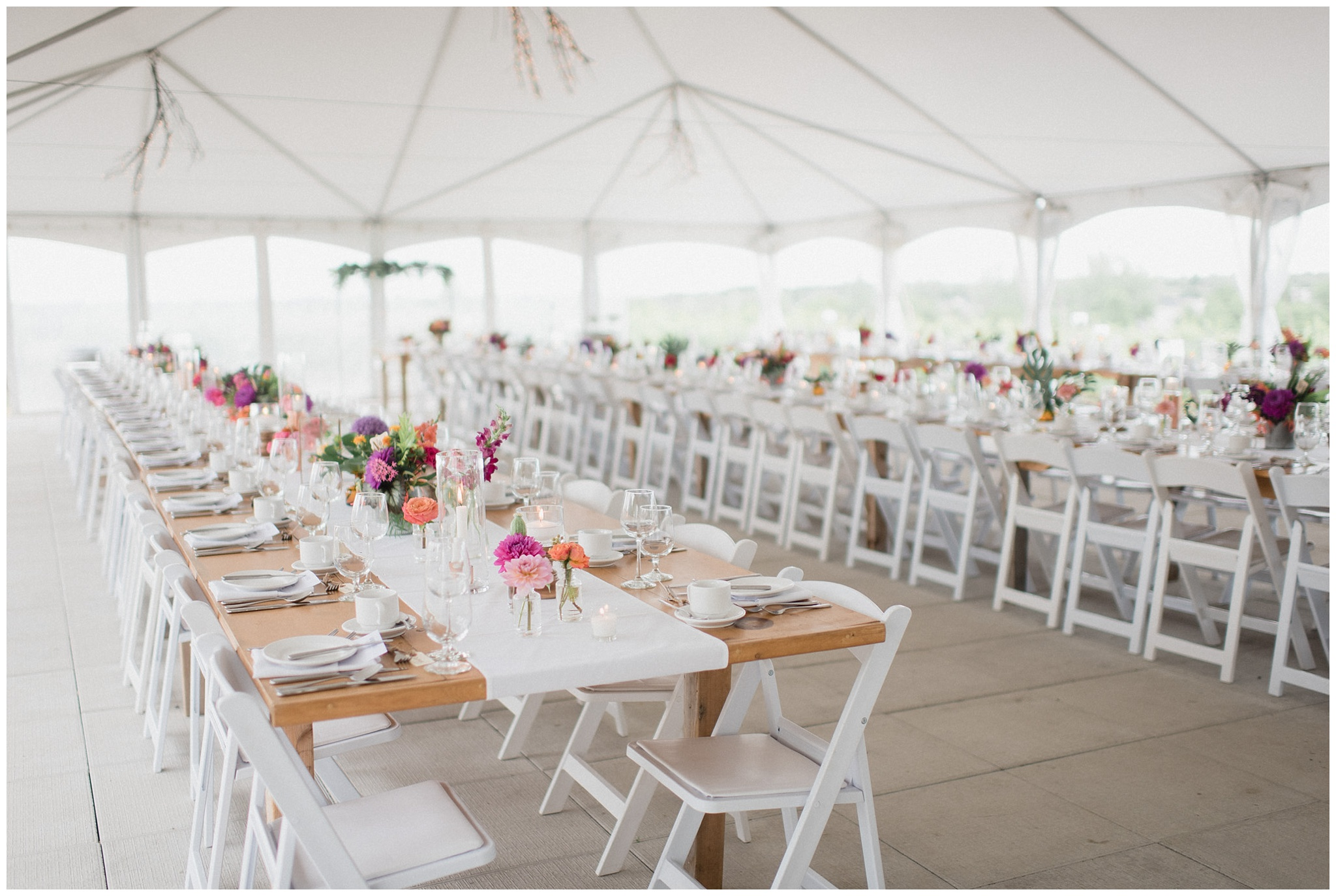 Colourful Ravine Vineyard Tent Wedding by Jenn Kavanagh Photography