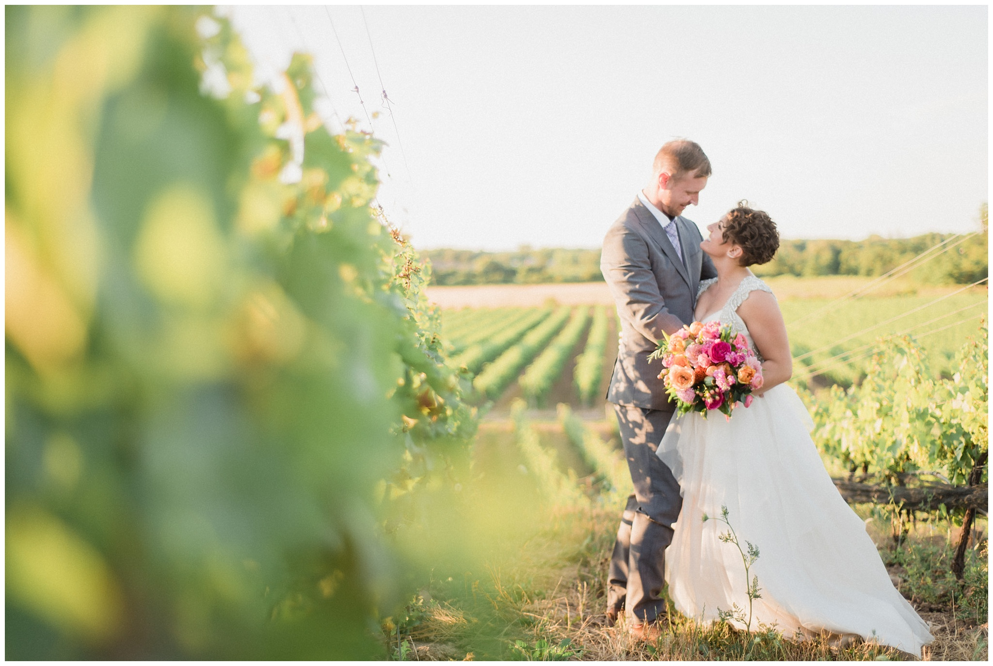 Sunset Niagara Vineyard Wedding by Jenn Kavanagh Photography