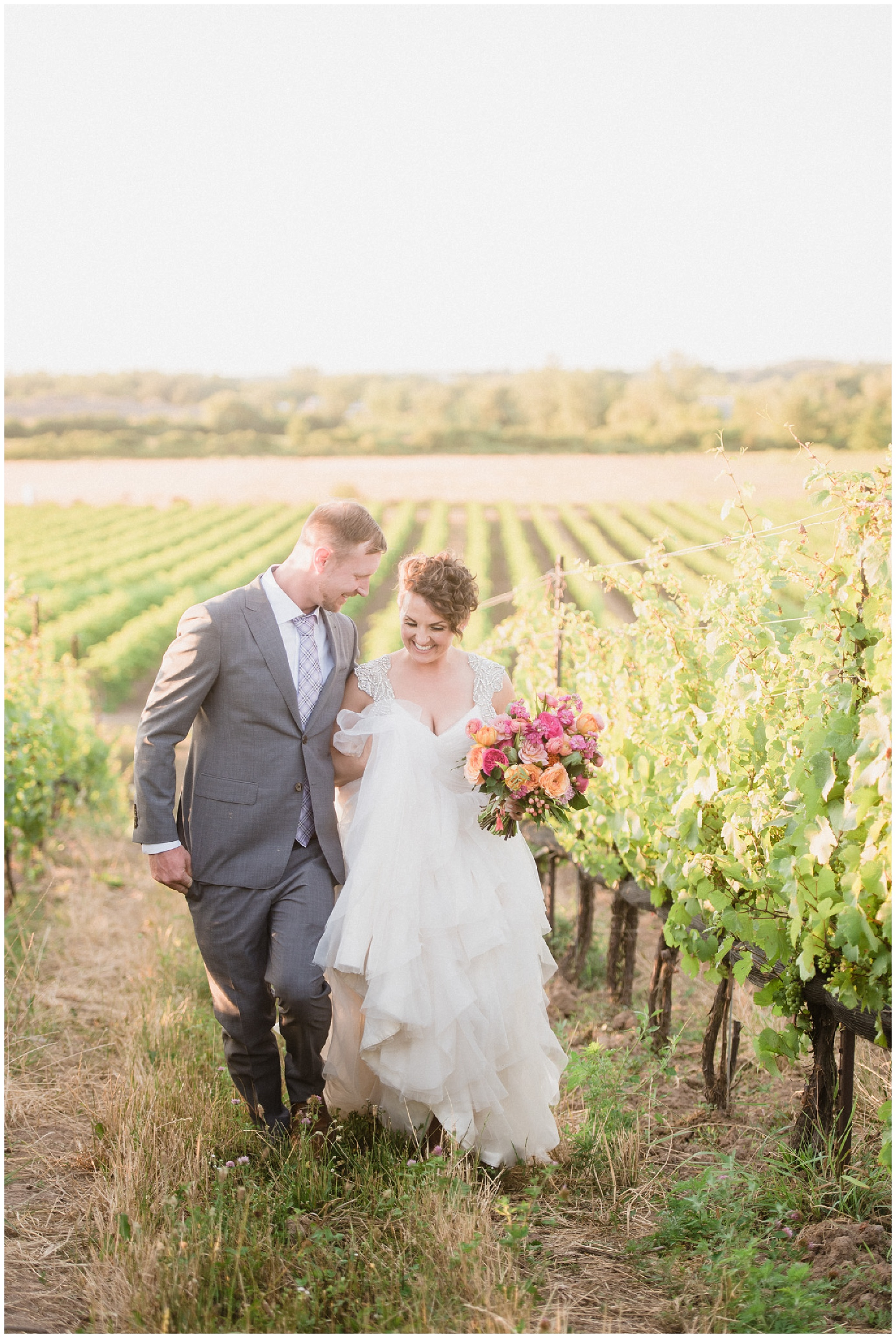 Sunset bride and groom portraits at Ravine Vineyard by Jenn Kavanagh Photography