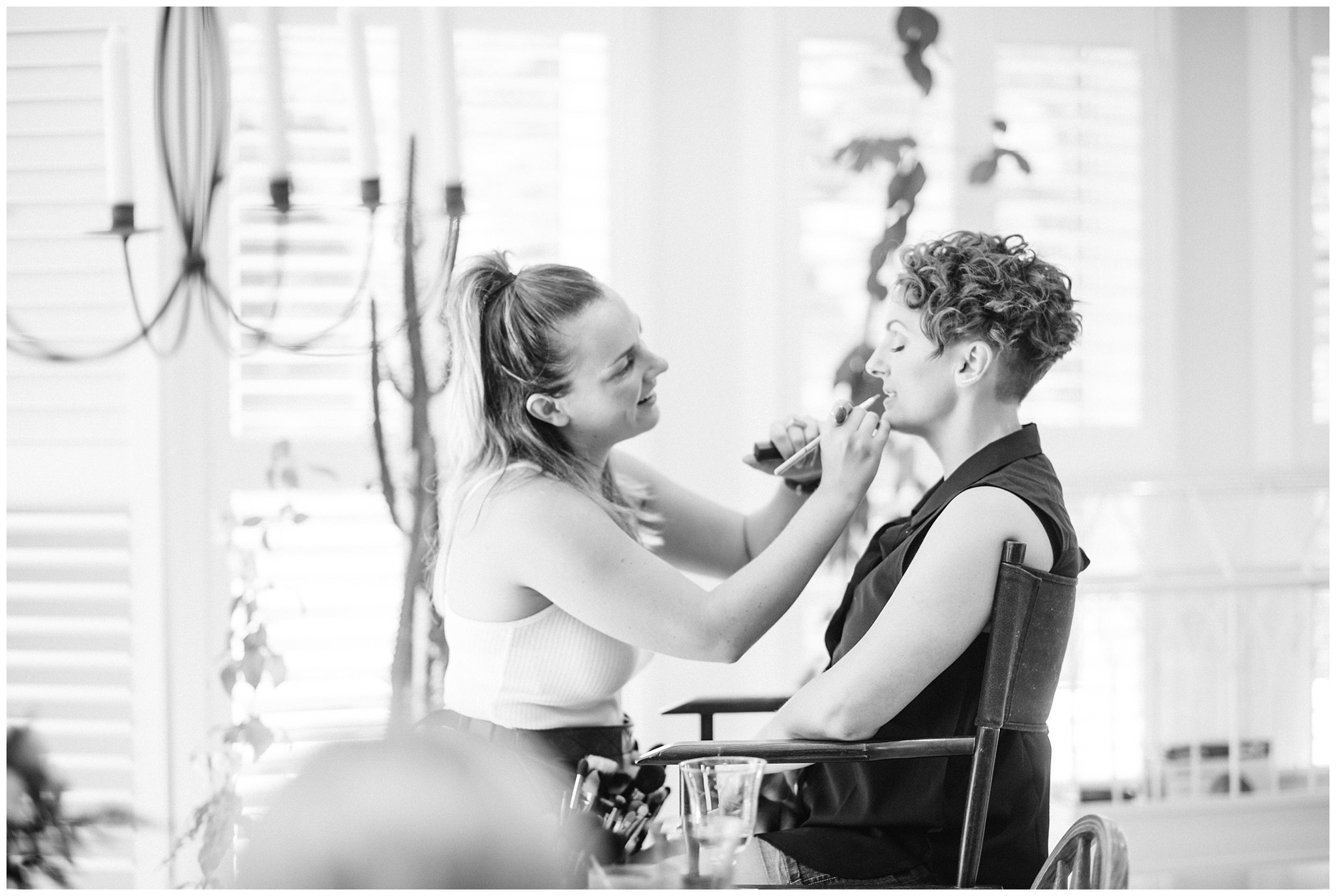 Taylor Switzer Makeup prepping bride by Jenn Kavanagh Makeup