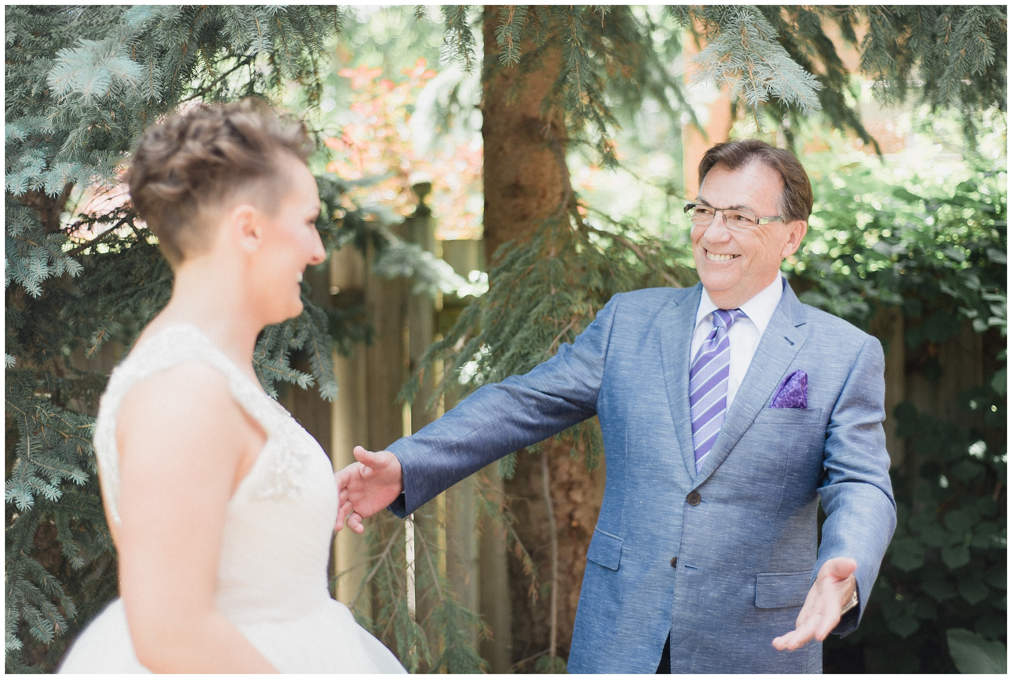 Bride's first look with her Dad by Jenn Kavanagh Photography