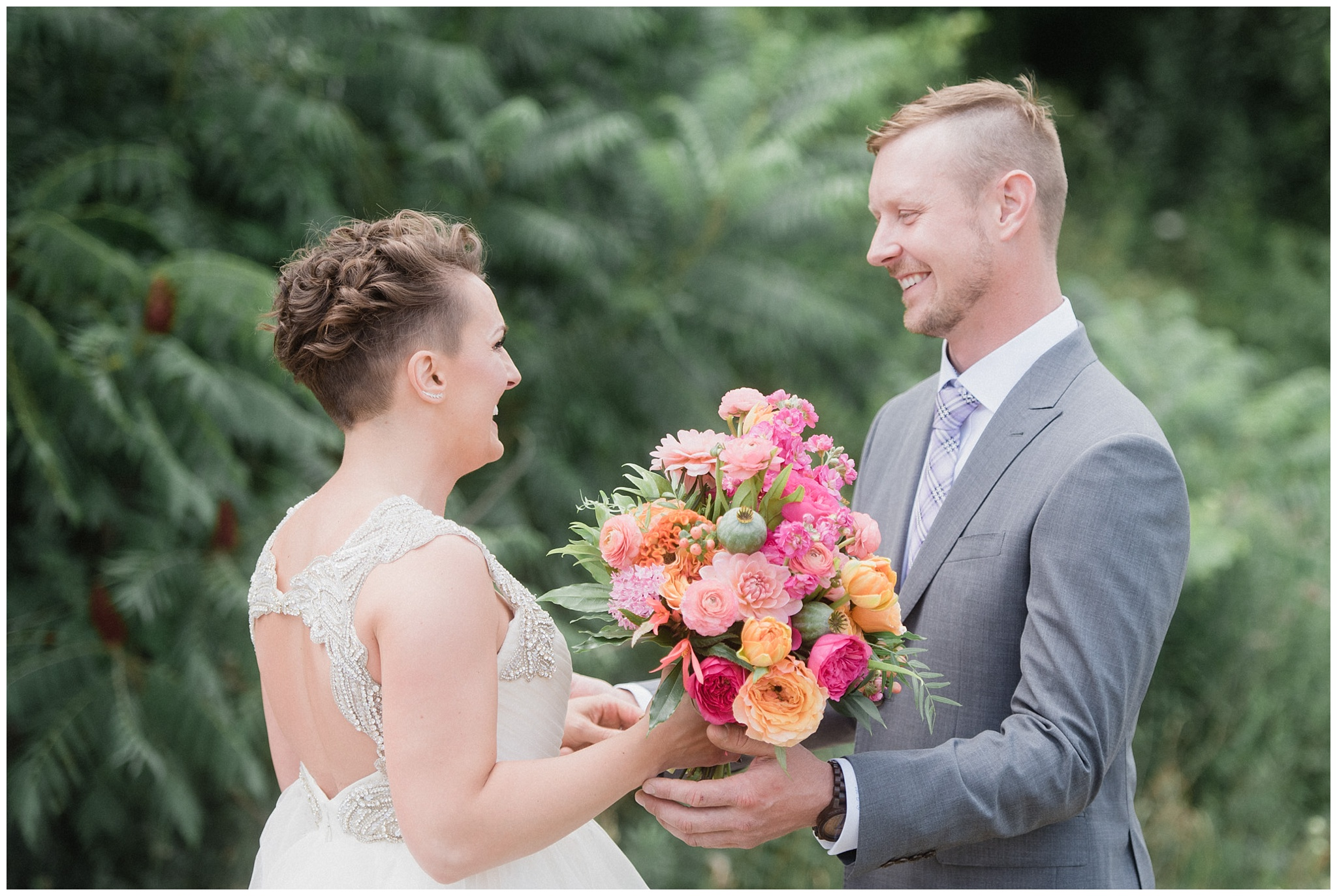 First look at colourful Ravine Vineyard Wedding by Jenn Kavanagh Photography