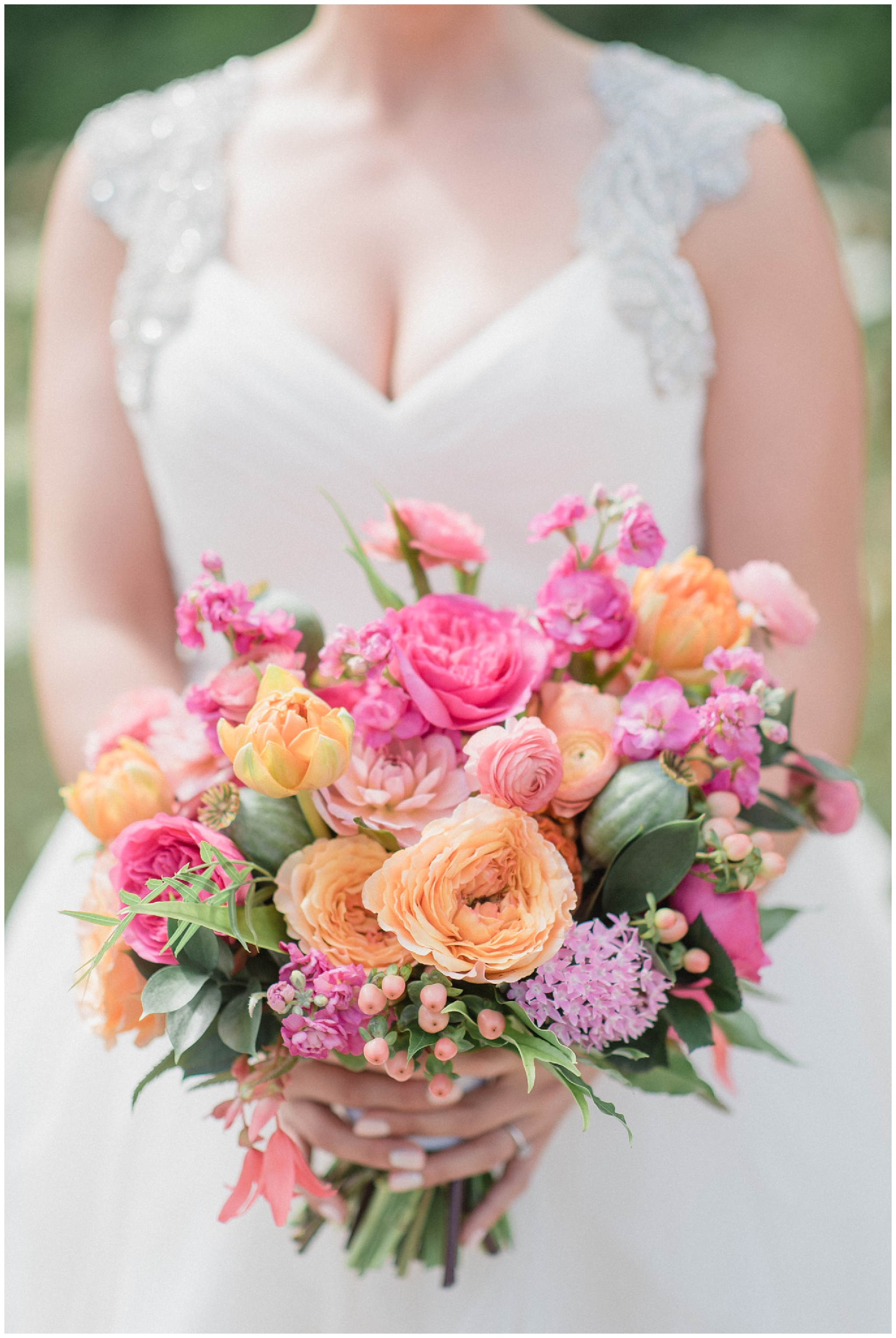 Colourful floral bouquet at Ravine Vineyard Wedding by Jenn Kavanagh Photography