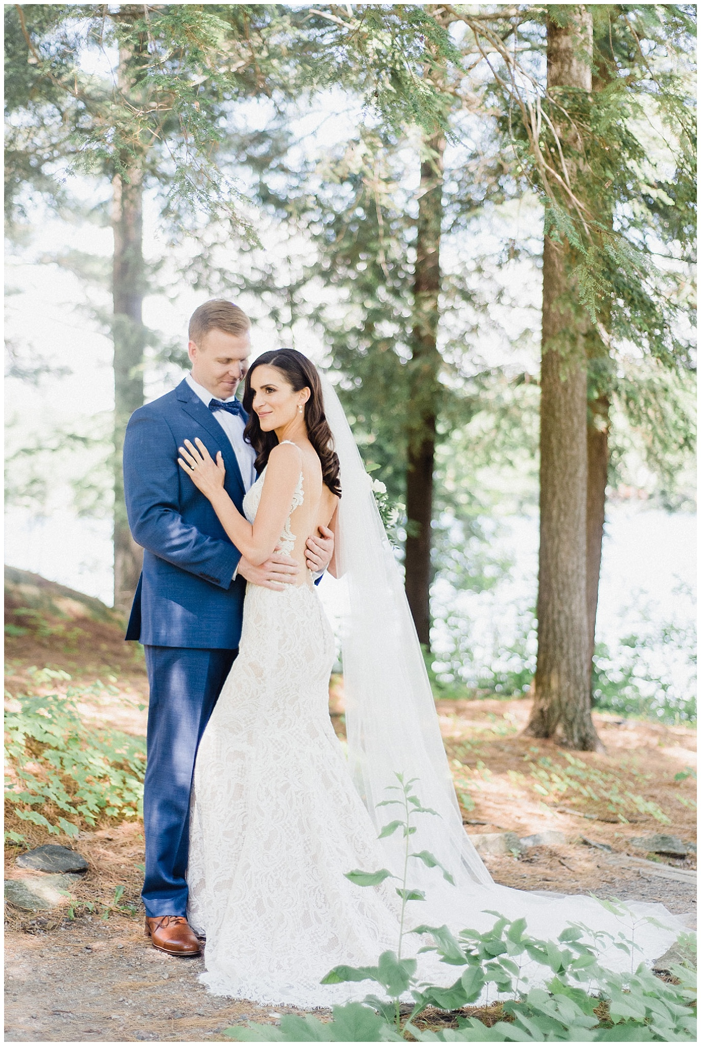 Bride and groom portraits at Sherwood Inn
