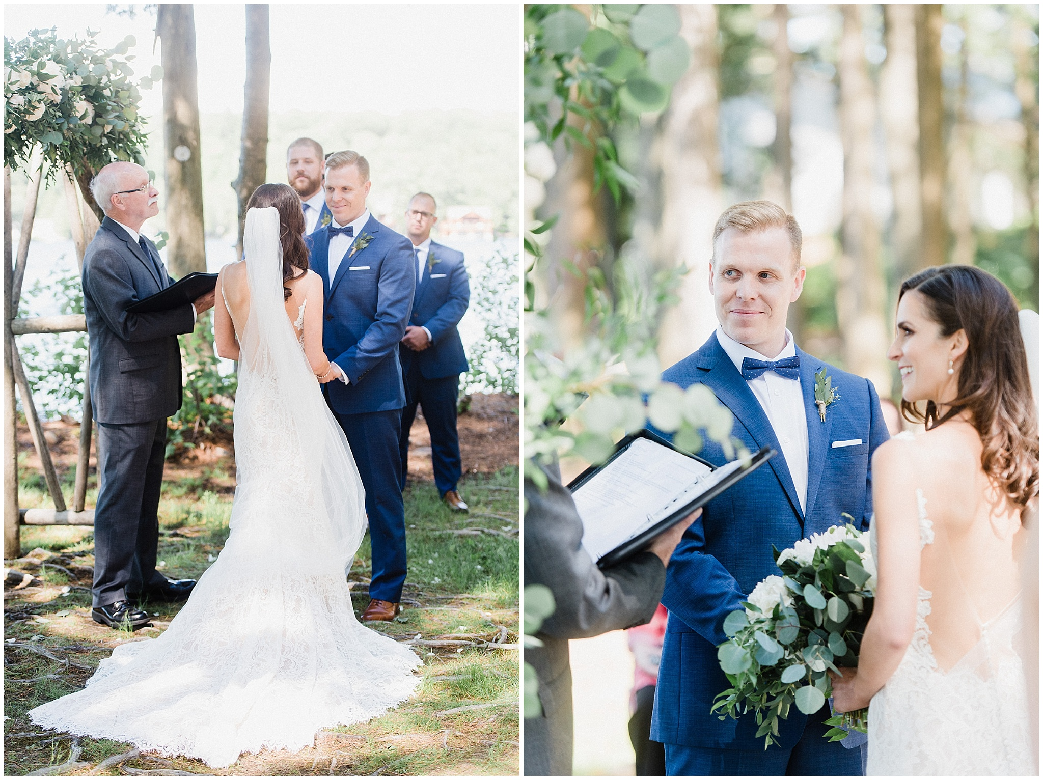 Outdoor ceremony at Sherwood Inn by Jenn Kavanagh Photography