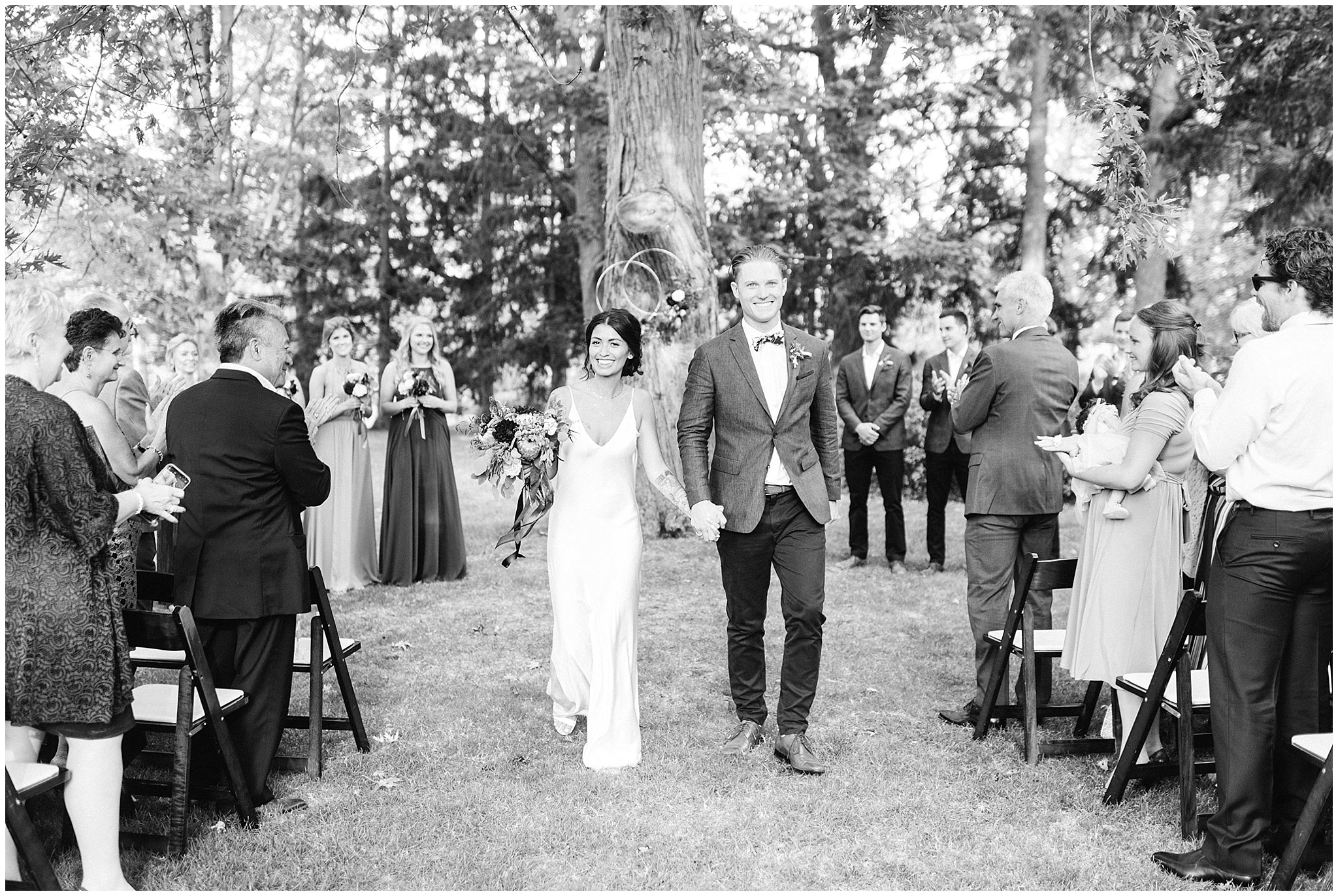 Outdoor ceremony at Victoria Park Pavilion in Kitchener, Ontario by Jenn Kavanagh Photography