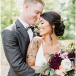 Portraits of bride and groom   Chic, laid back wedding at Victoria Park Pavilion photographed by Jenn Kavanagh Photography
