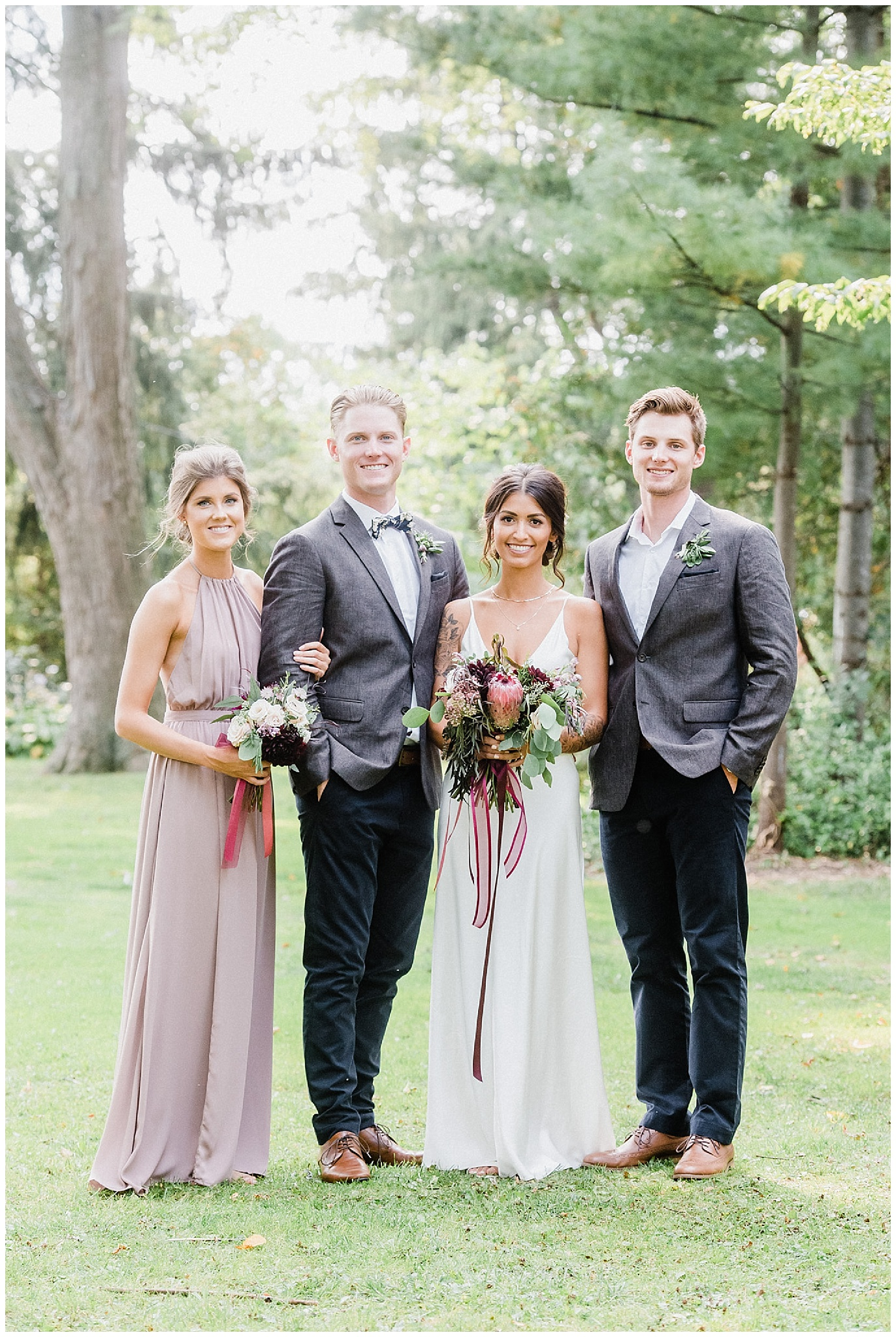 Portraits of bride and groom | Chic, laid back wedding at Victoria Park Pavilion photographed by Jenn Kavanagh Photography