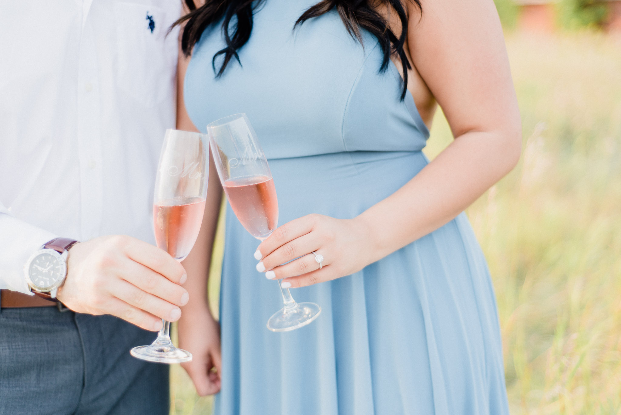 Blue Maxi Dress Engagement Session by Jenn Kavanagh Photography