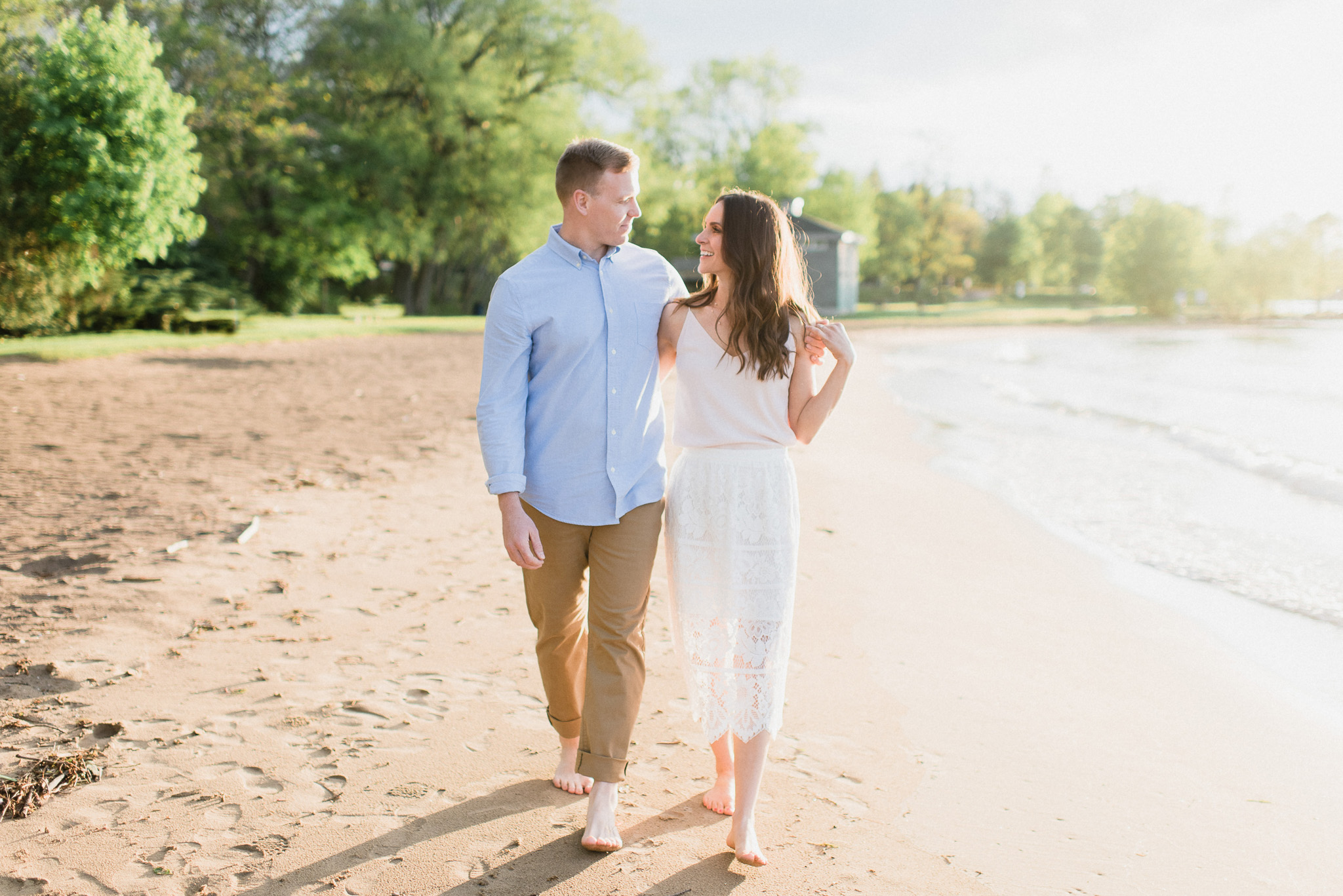 Sunny Lake Simcoe engagement session by Jenn Kavanagh Photography