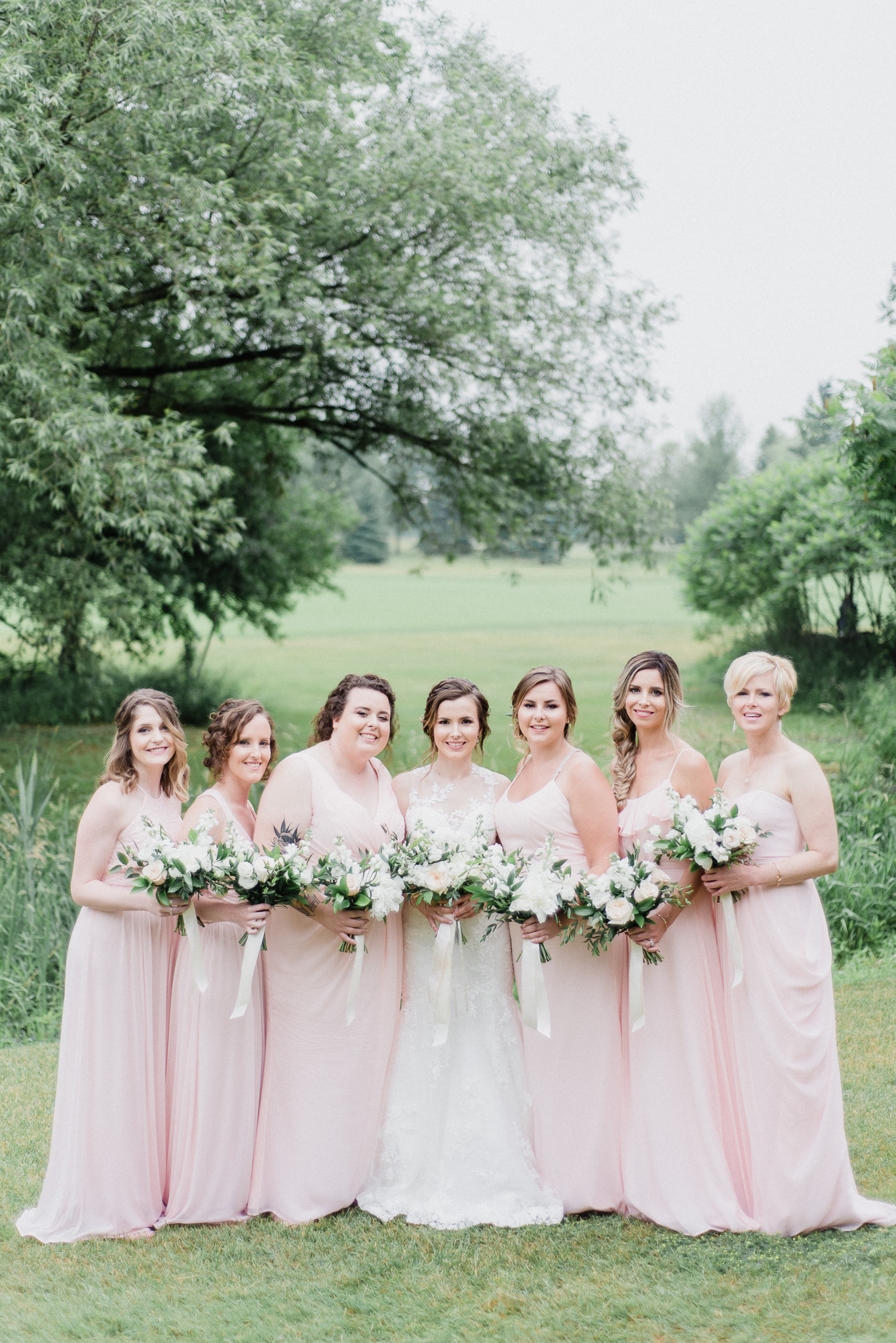 Blush Pink, White, Gold and Greenery Wedding Photos by Jenn Kavanagh Photography