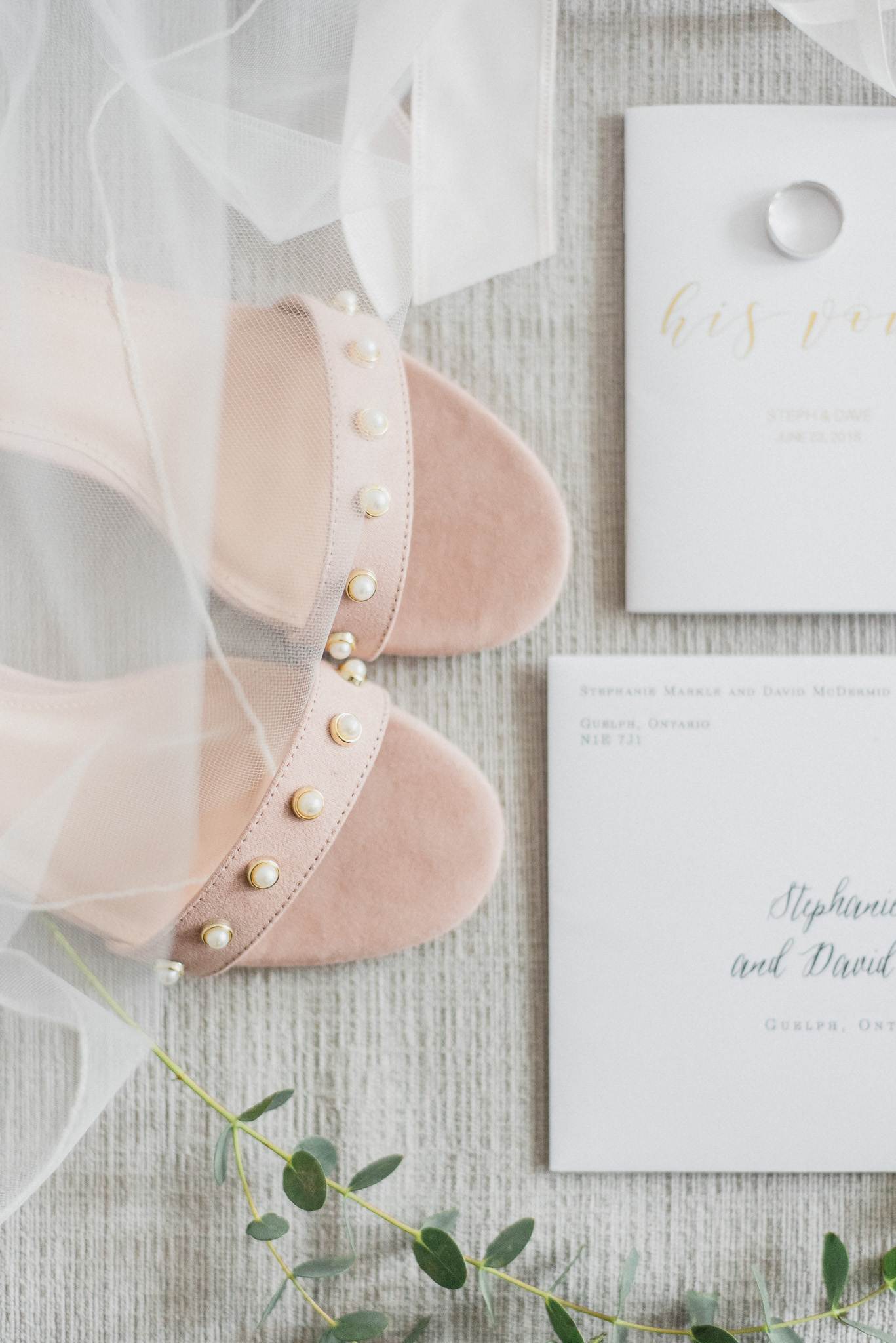 Light and romantic bridal details, photographed by Jenn Kavanagh Photography.