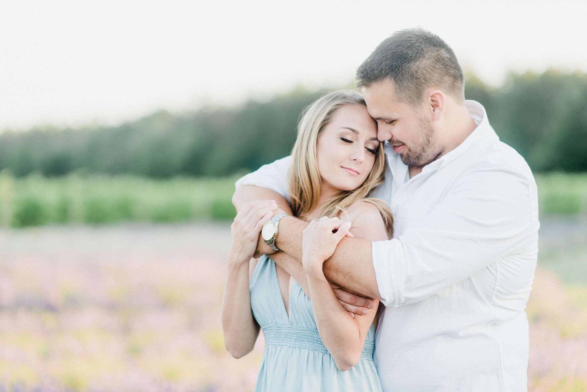 Lavender Field Engagement Photos by Jenn Kavanagh Photography