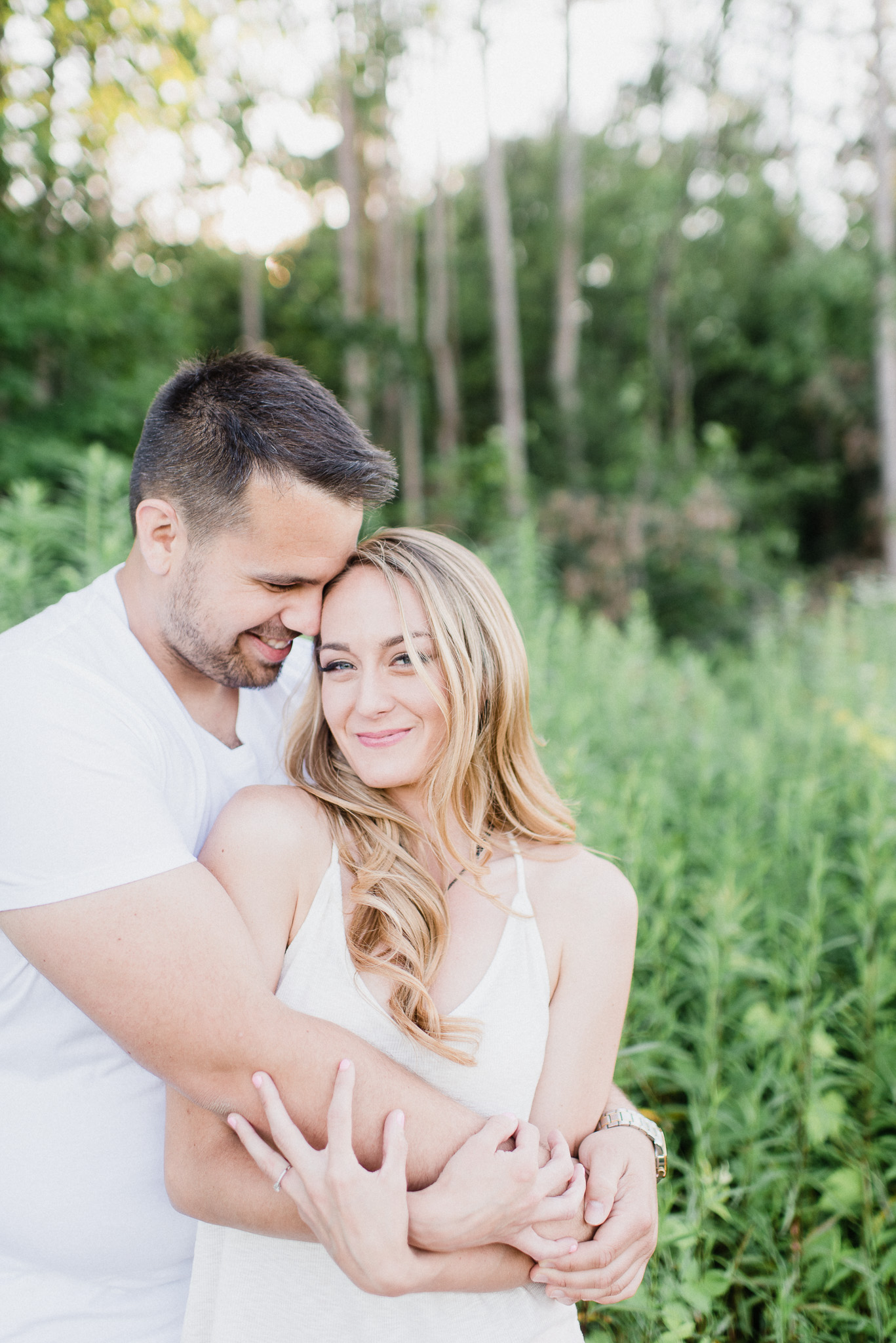 Toronto area lavender field engagement photos by Jenn Kavanagh Photography