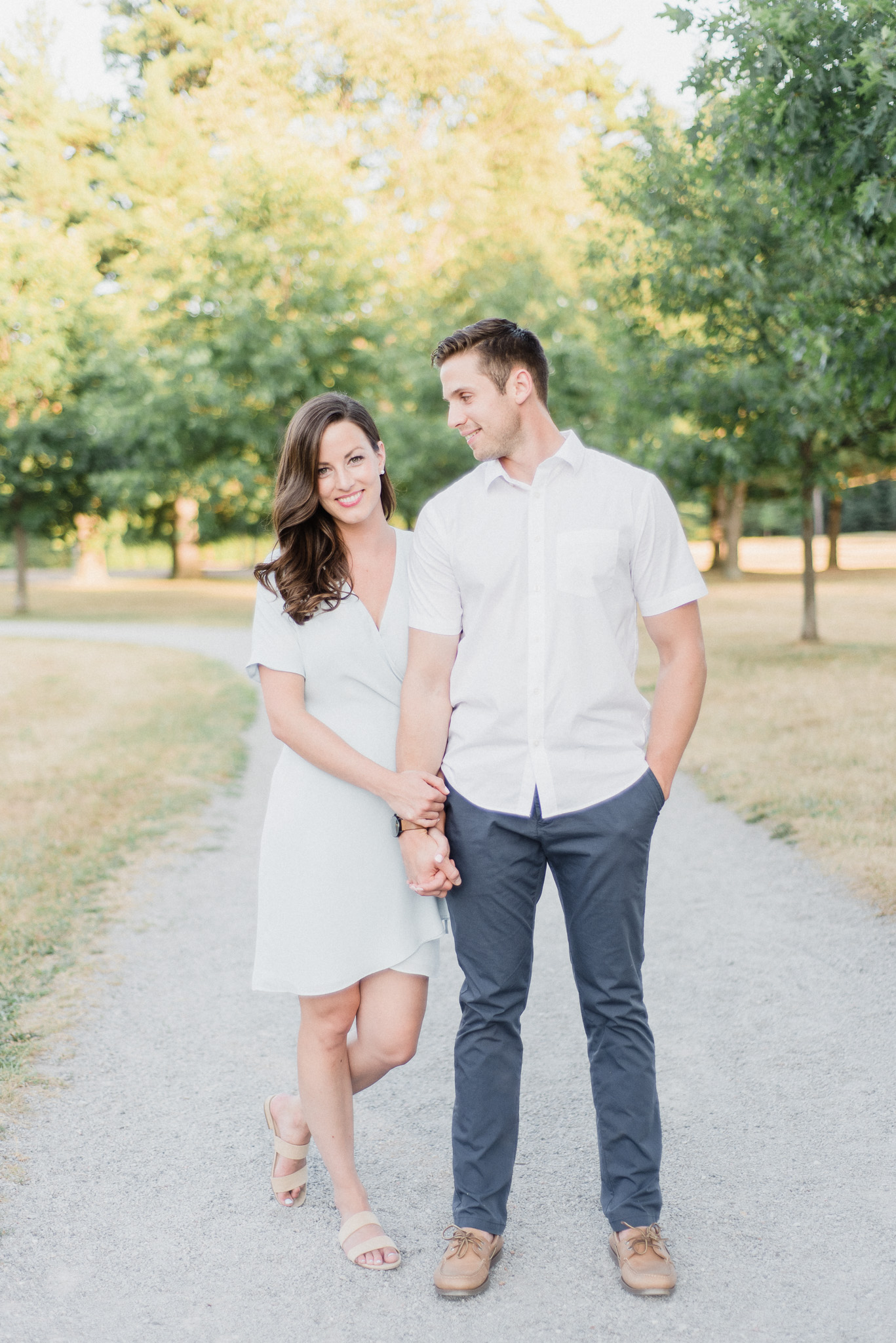 Bright and airy engagement photos by Jenn Kavanagh Photography.