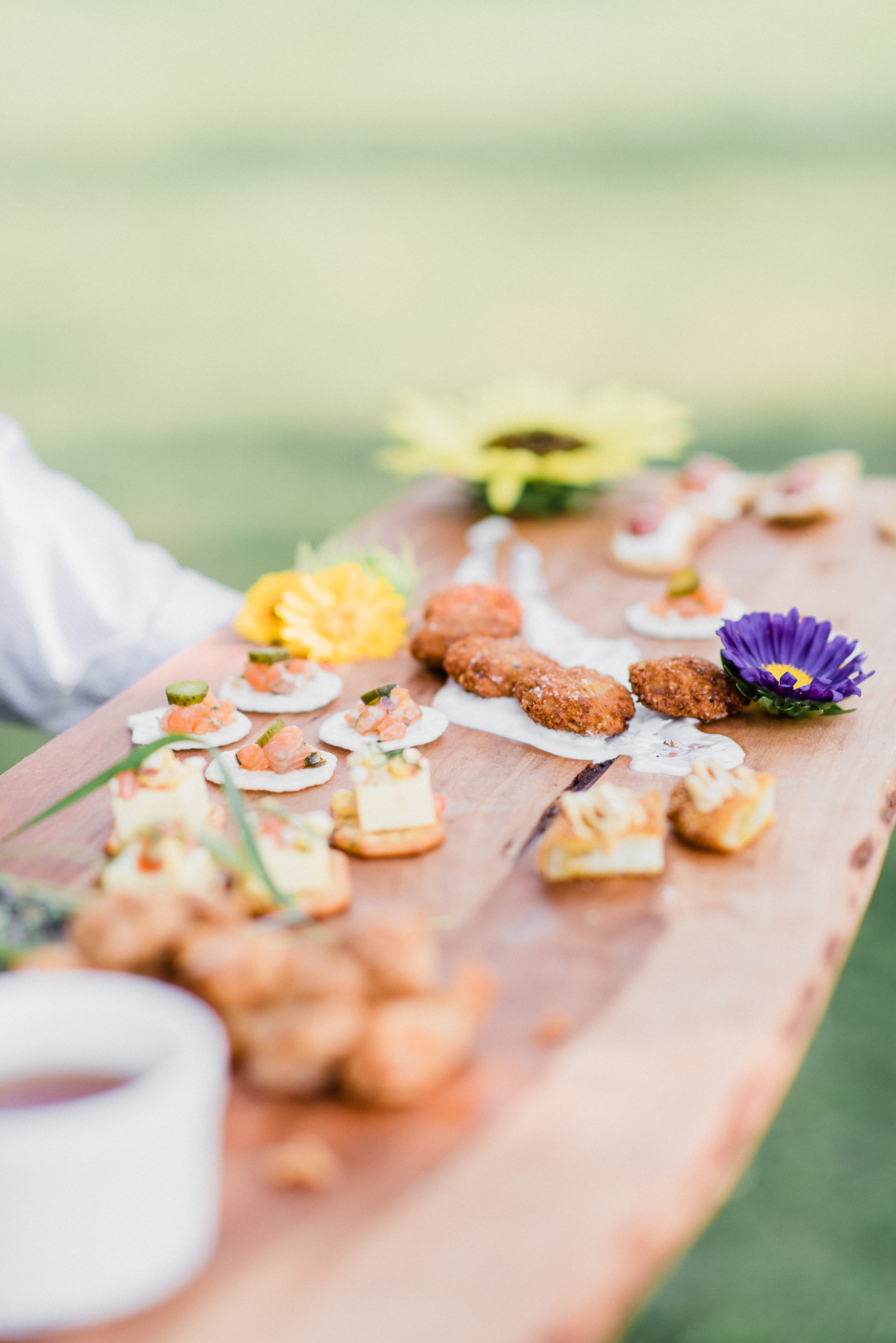 Appetizer Platter at a Summertime Wedding at Earth to Table Farm by Jenn Kavanagh Photography