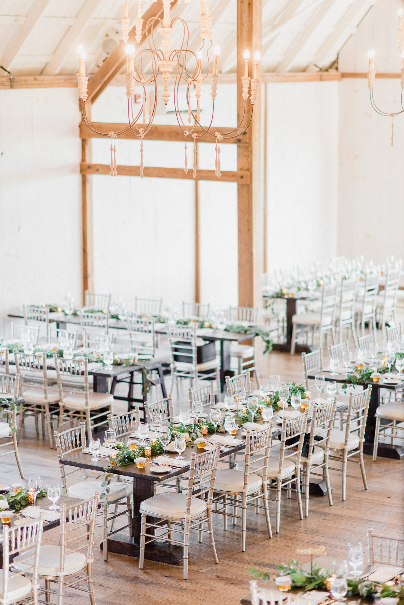 Harvest table wedding setup at Earth to Table Farm by Jenn Kavanagh Photography