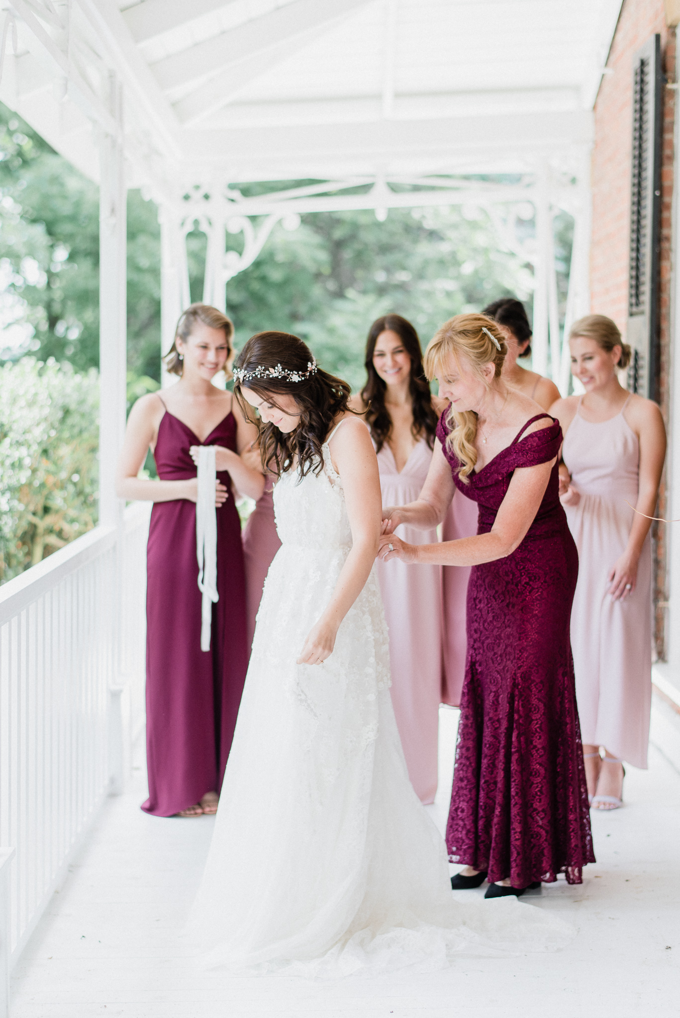 Mismatched Park & Fifth Co bridesmaids dresses by Jenn Kavanagh Photography