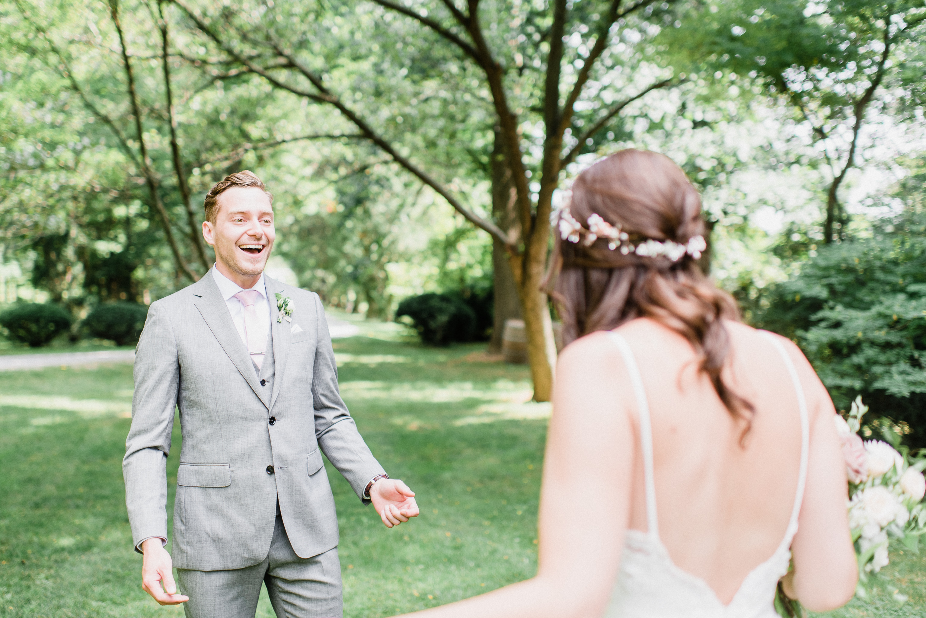 Bride and groom's first look by Jenn Kavanagh Photography