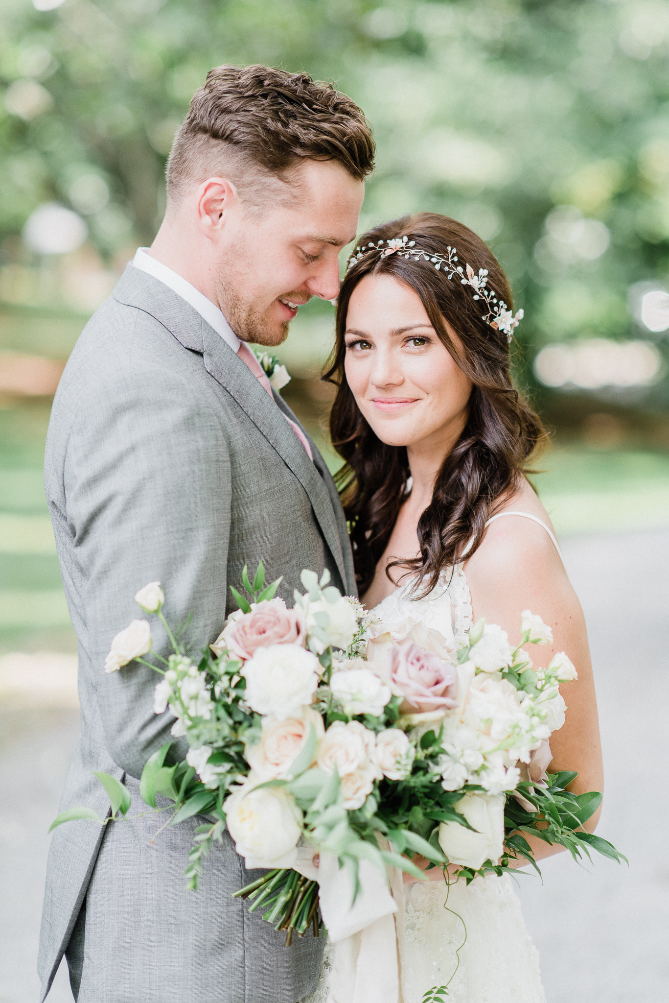 Blair Nadeau Bridal Adornments Frida Floral Bridal Hair Vine by Jenn Kavanagh Photography