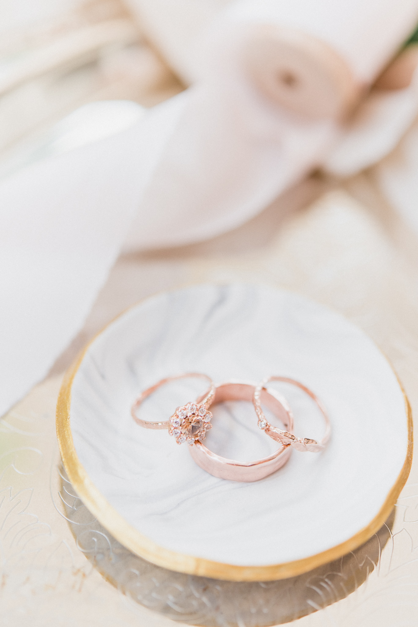 Nature inspired wedding rings by Anouk Jewelry, photographed by Jenn Kavanagh Photography