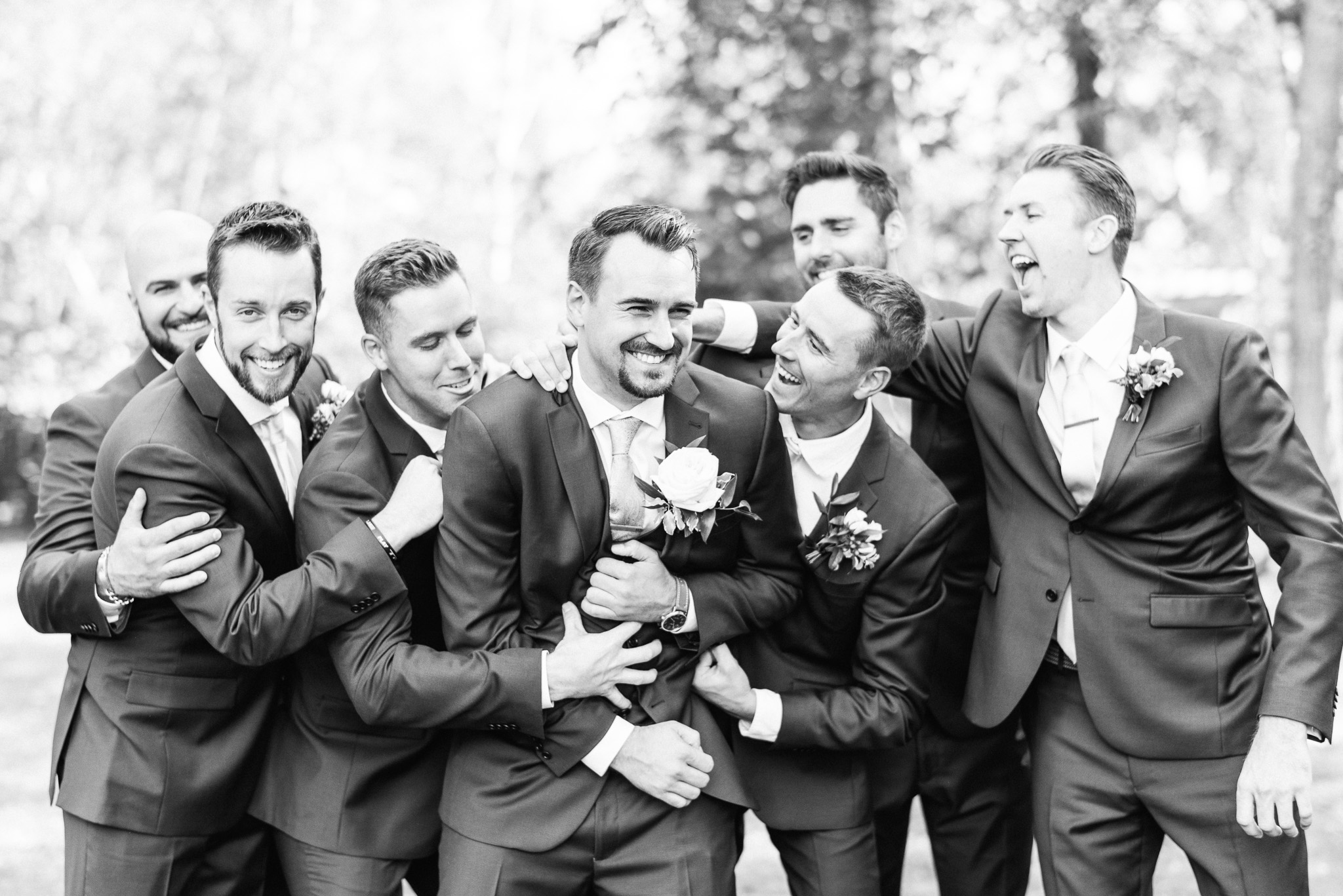 Blue groomsmen suits by Jenn Kavanagh Photography