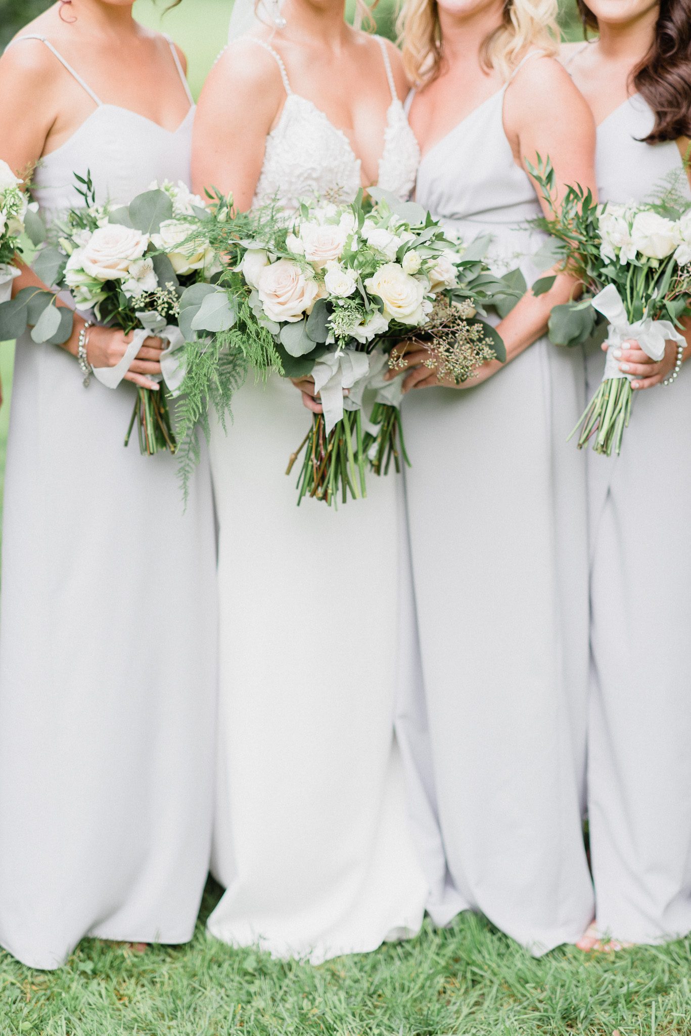 Dove Grey Park & Fifth Co bridesmaids dresses by Jenn Kavanagh Photography