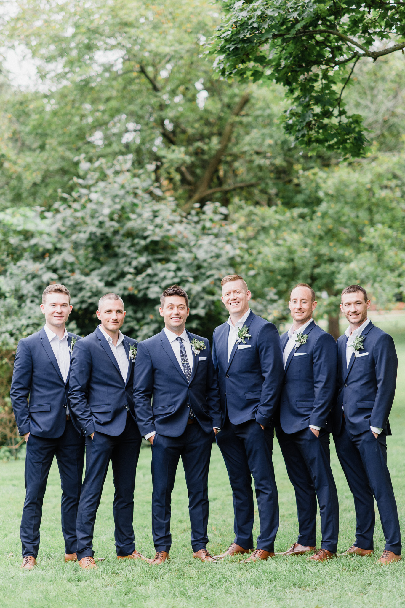 Navy groomsmen by Jenn Kavanagh Photography